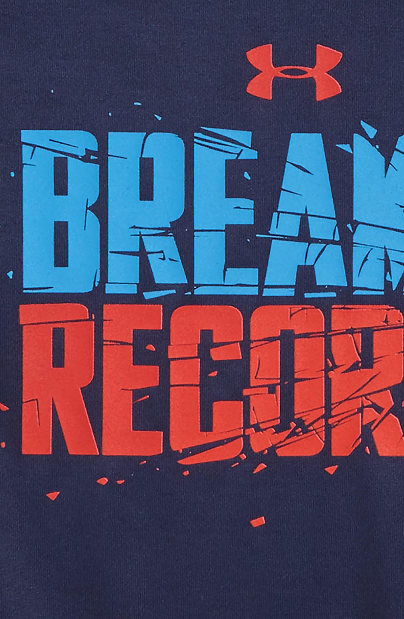 Breakin' Records HeatGear<sup>®</sup> Tee,                             Alternate thumbnail 2, color,                             Midnight Navy