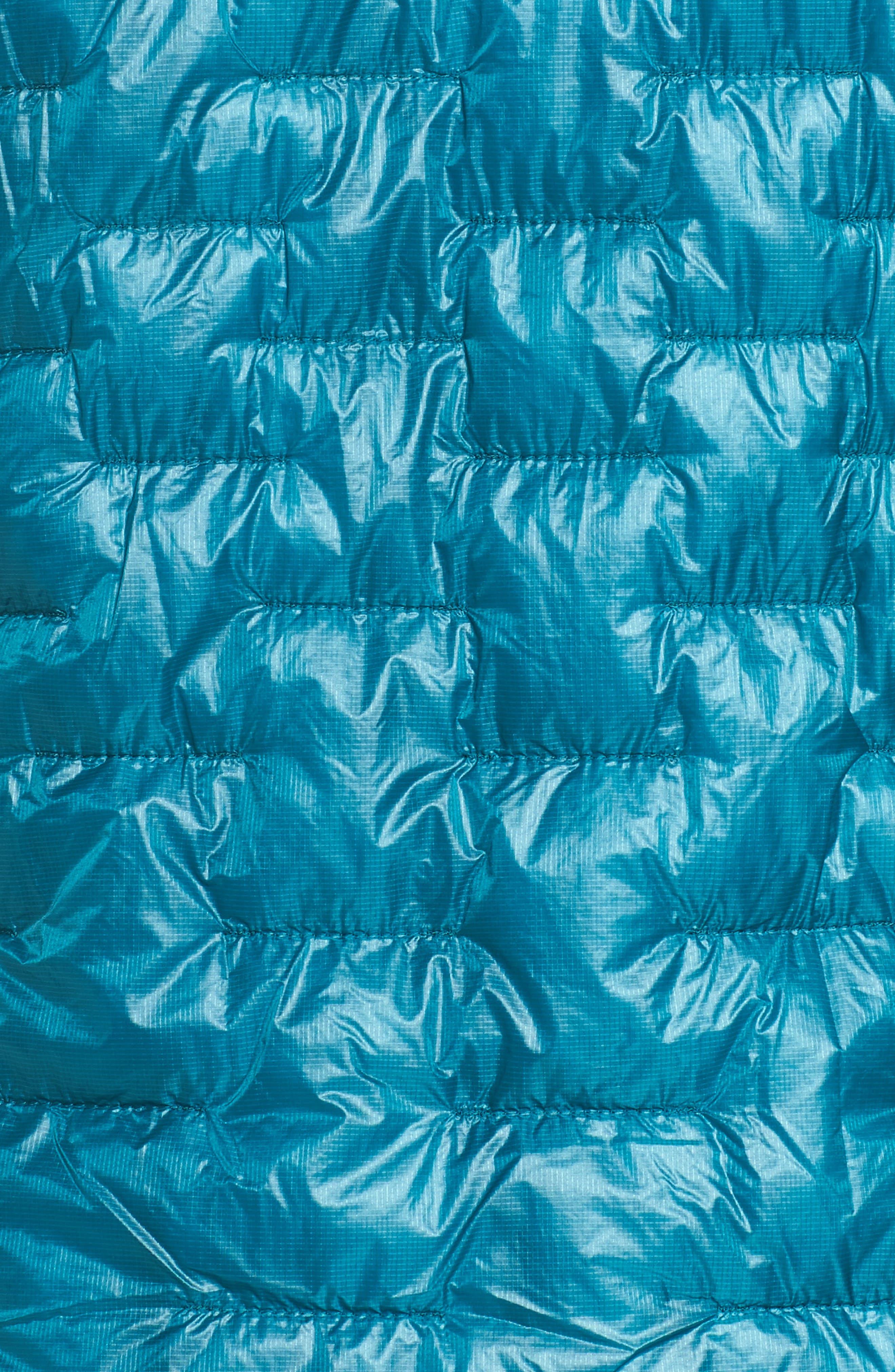 Micro Puff Hoodie,                             Alternate thumbnail 6, color,                             Elwha Blue