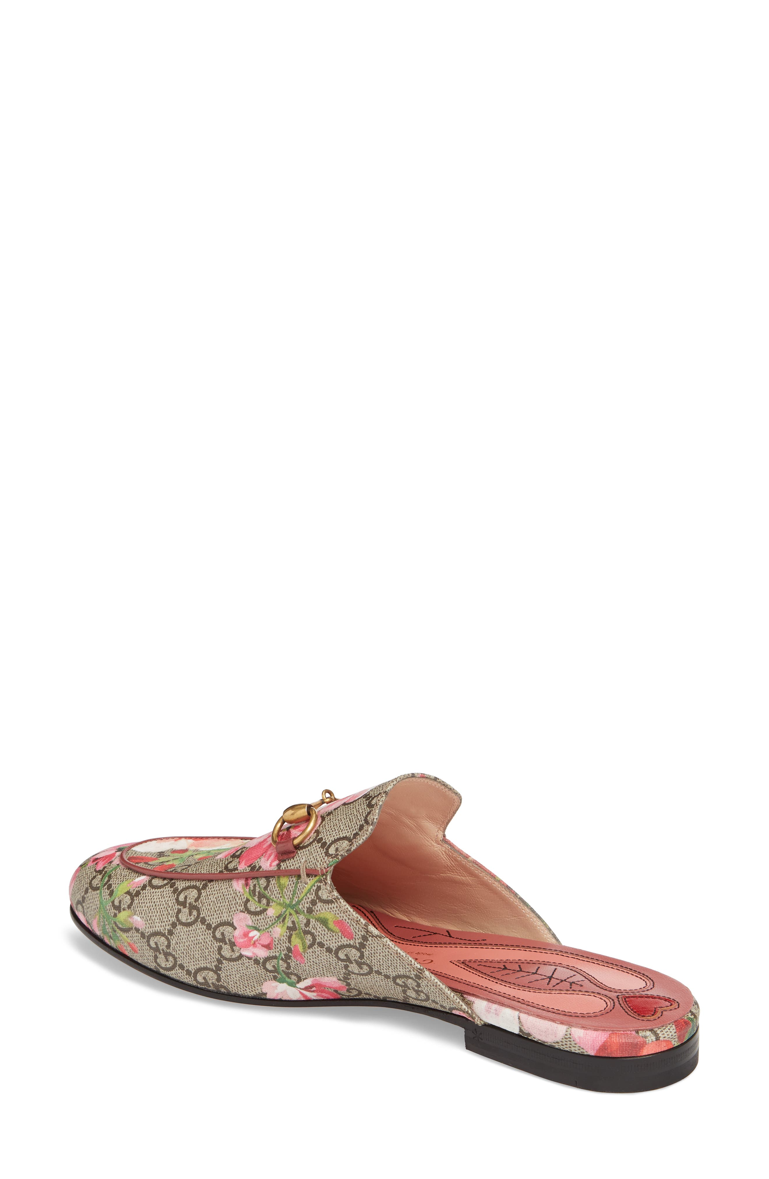 Princetown Loafer Mule,                             Alternate thumbnail 2, color,                             Beige/ Floral Print