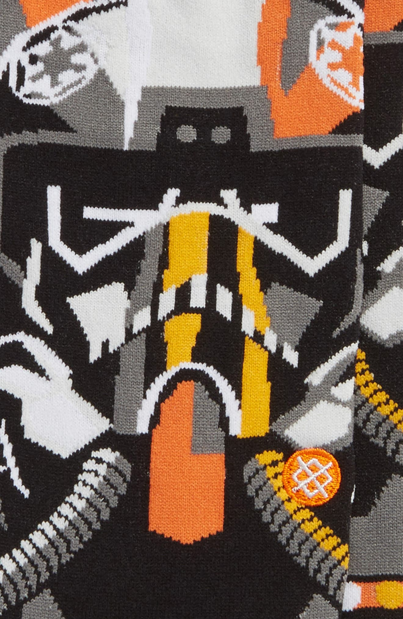 x Star Wars<sup>™</sup> Pilot Mosaic Socks,                             Alternate thumbnail 2, color,                             Black