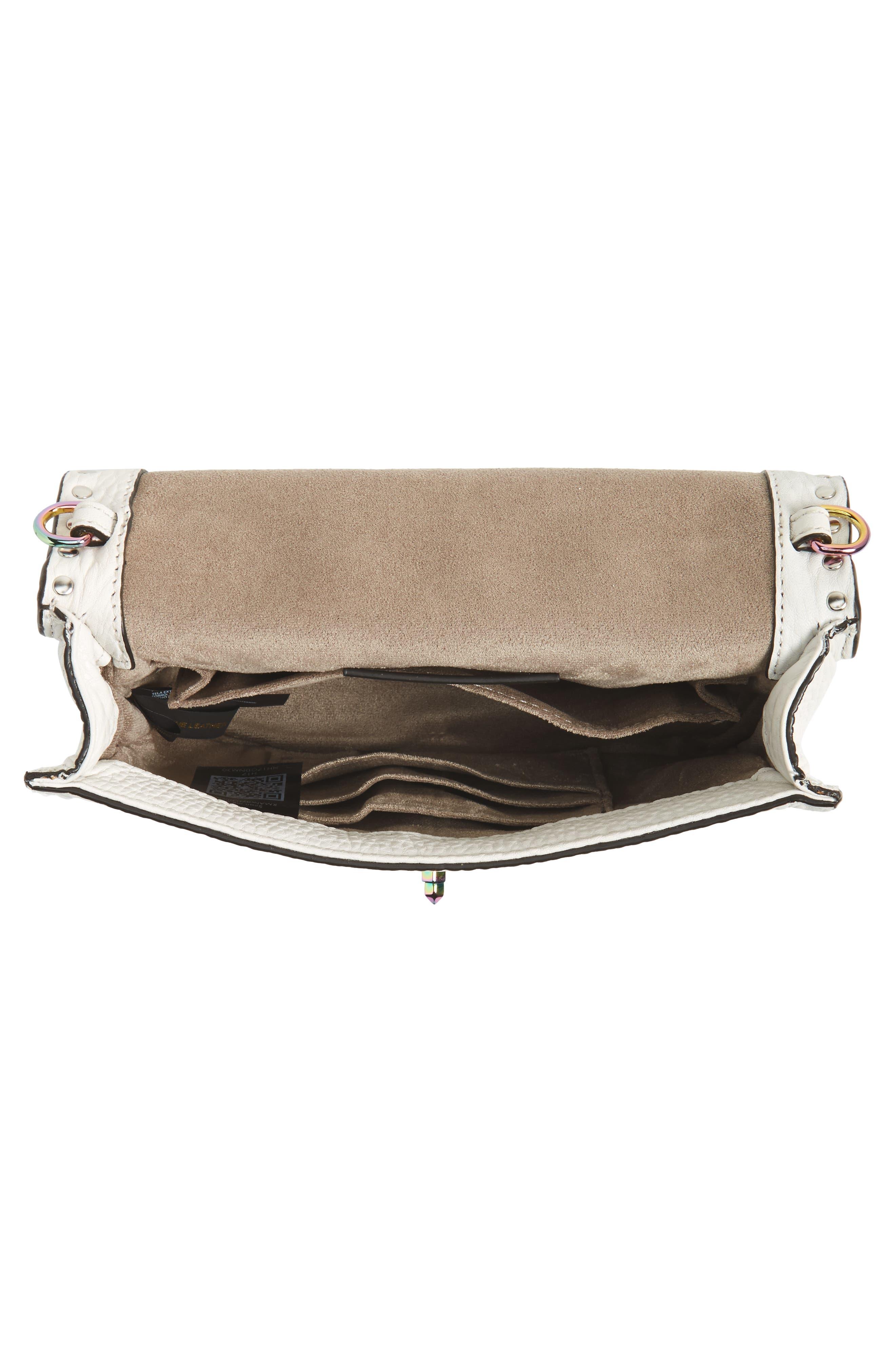 Darren Leather Top Handle Crossbody Bag,                             Alternate thumbnail 4, color,                             Bianco