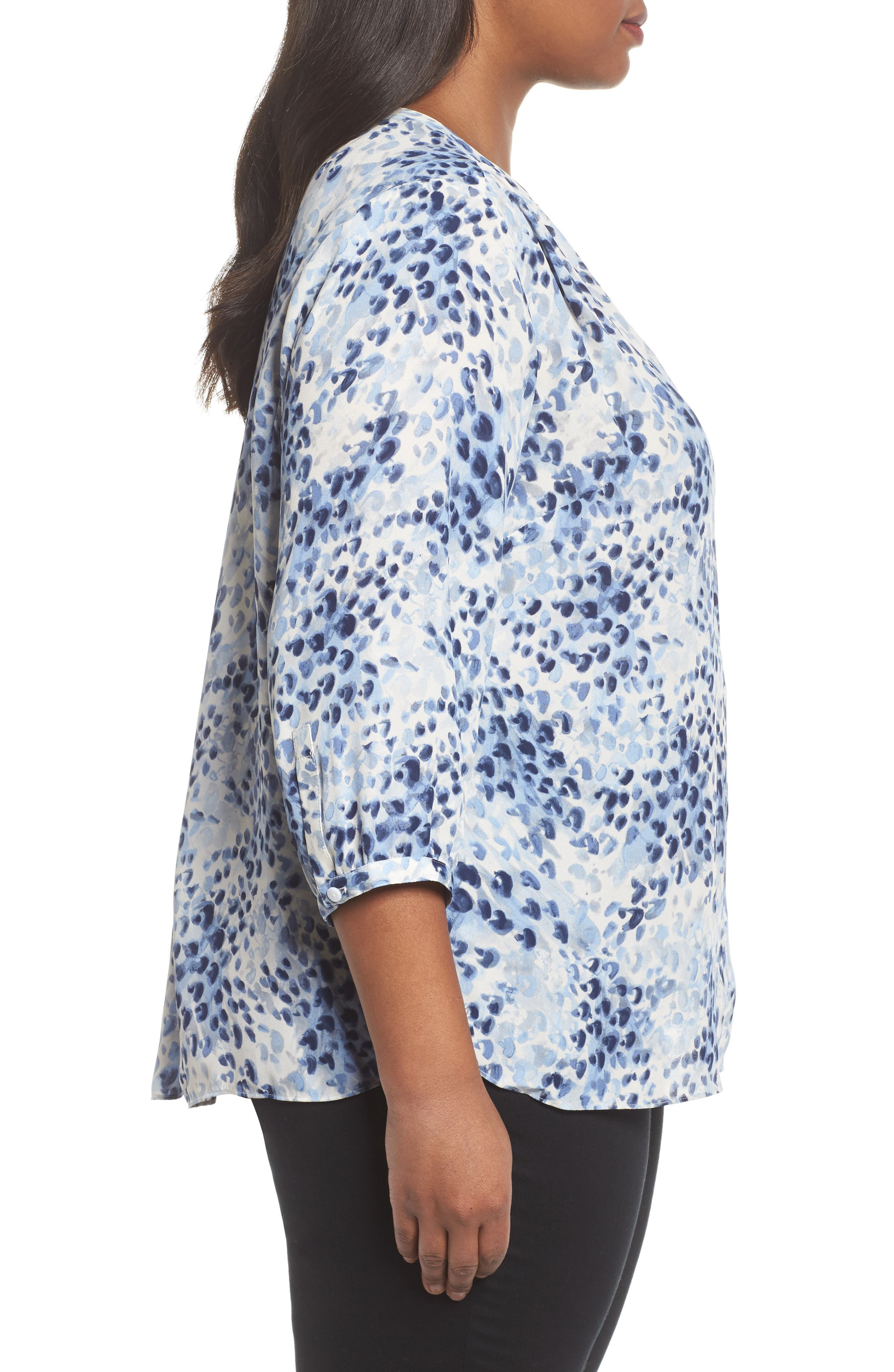 Blouse,                             Alternate thumbnail 3, color,                             Blue