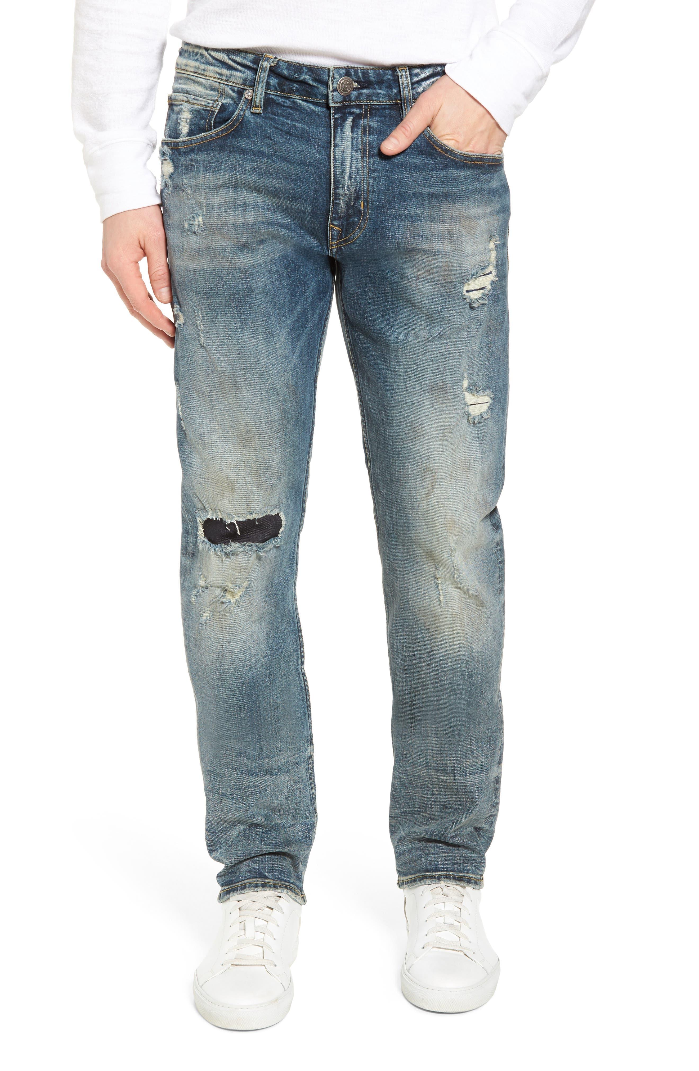 Slim Straight Leg Jeans,                             Main thumbnail 1, color,                             Tint Light
