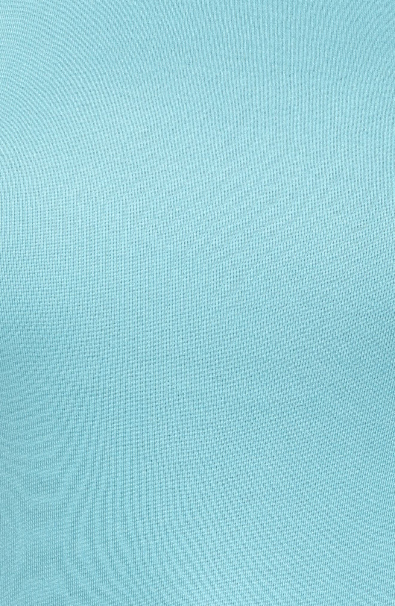 Alternate Image 6  - Sejour Cap Sleeve Ribbed Tee (Plus Size)