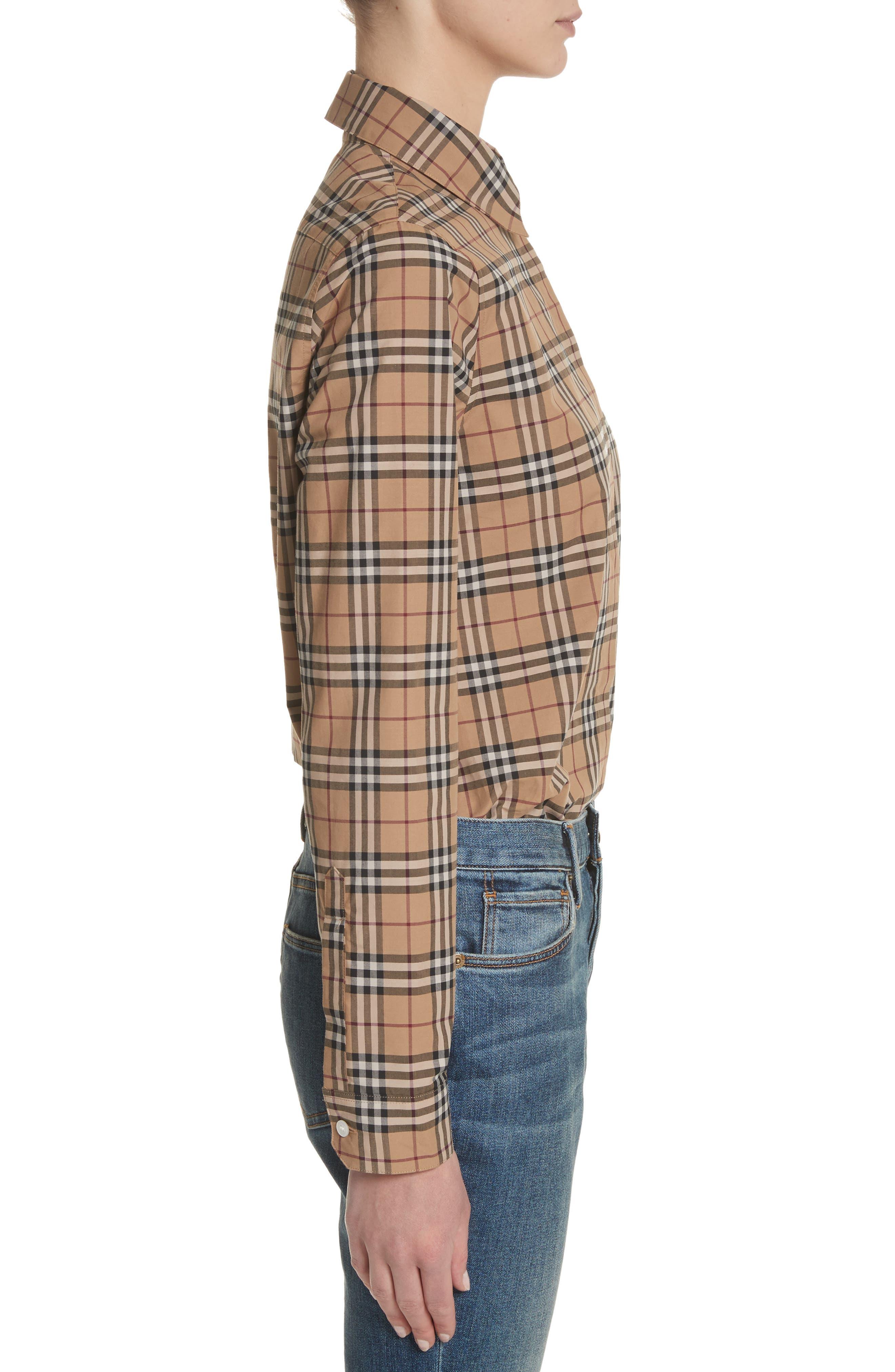 Alternate Image 3  - Burberry Vintage Check Cotton Shirt