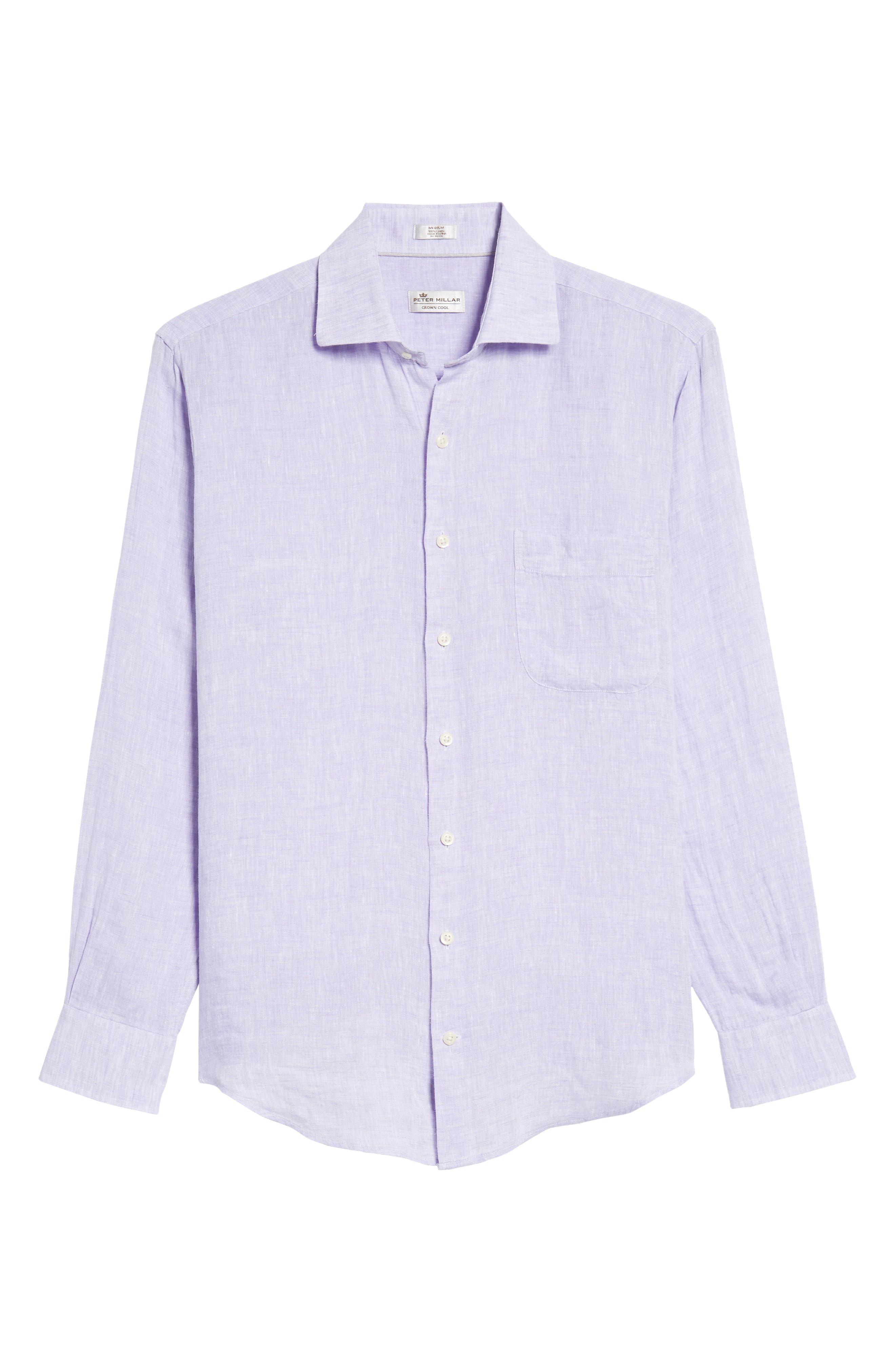 Alternate Image 6  - Peter Millar Classic Fit Crown Cool Linen Sport Shirt