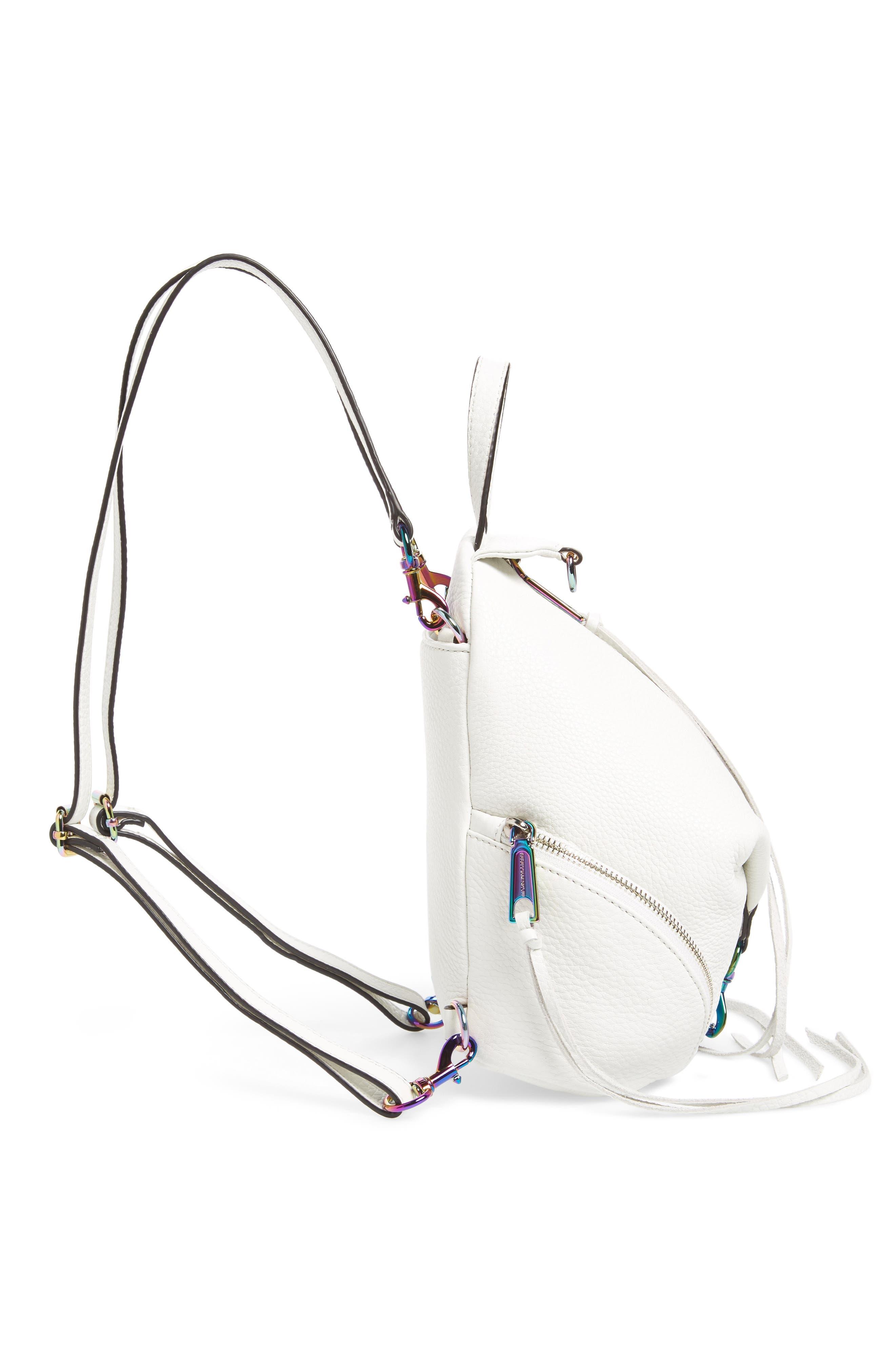 Alternate Image 5  - Rebecca Minkoff Mini Julian Nubuck Leather Convertible Backpack
