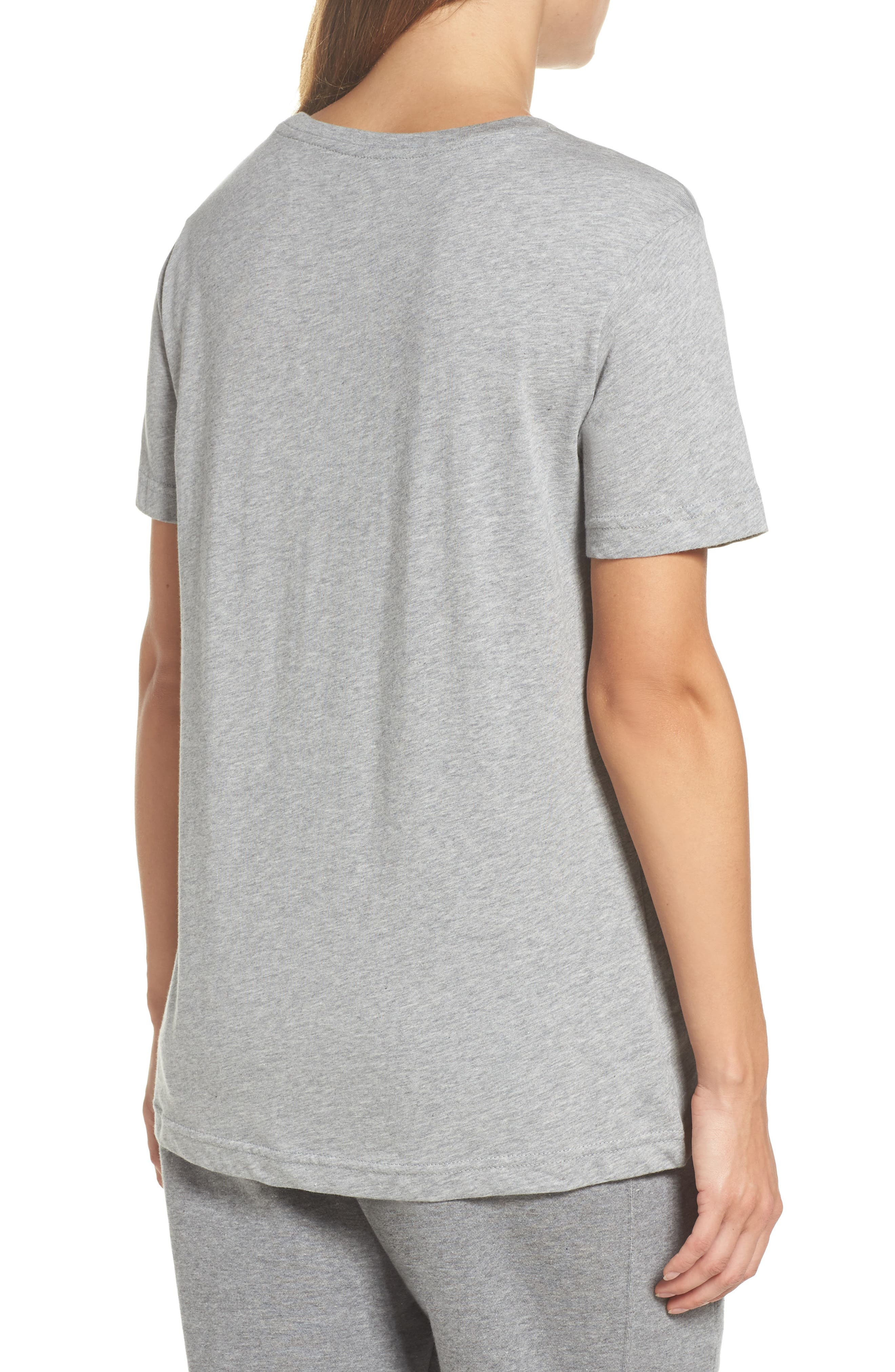 Sportswear Goddess Graphic Tee,                             Alternate thumbnail 2, color,                             Dark Grey Heather/ Black