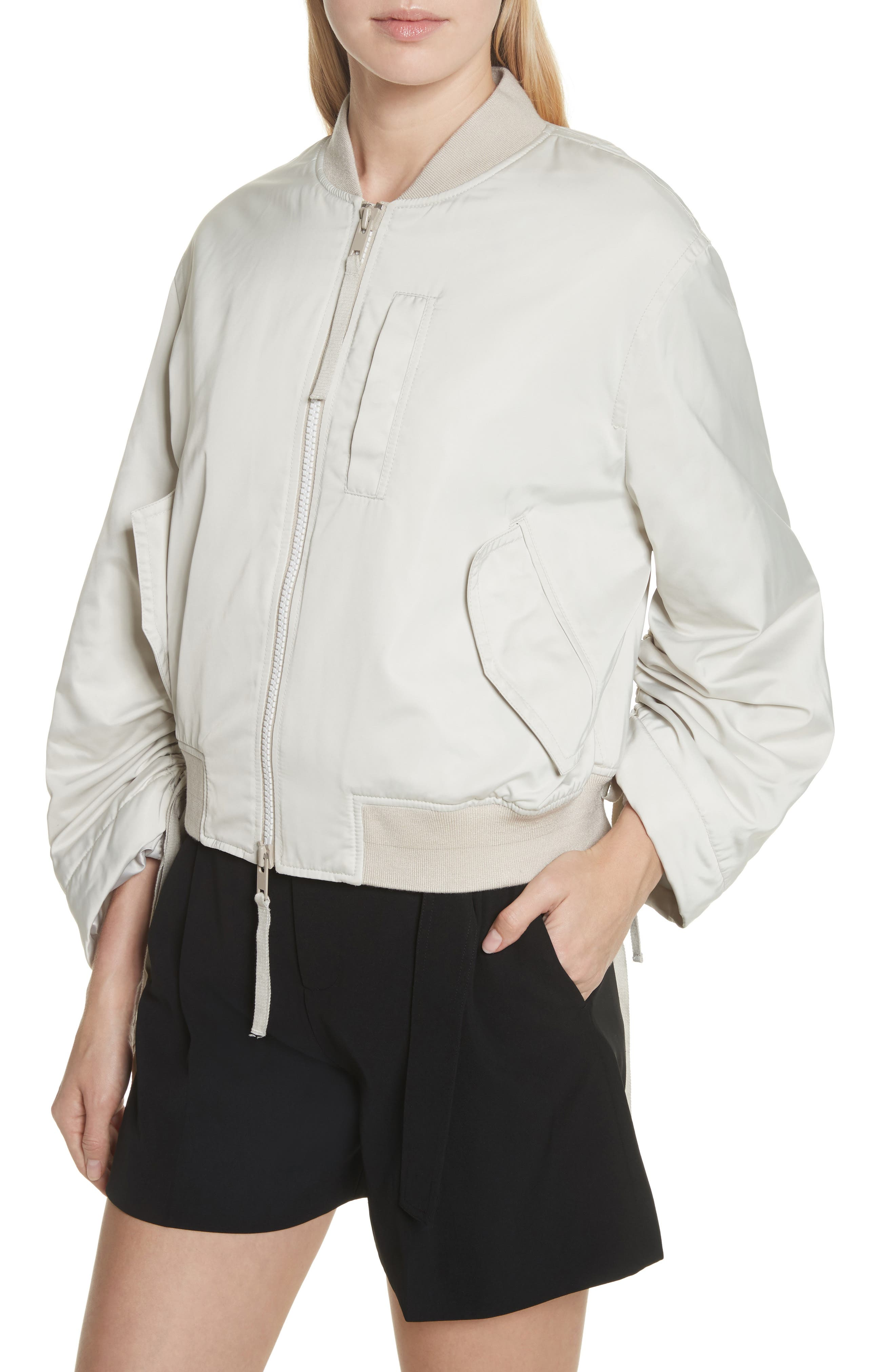 Parachute Bomber Jacket,                             Alternate thumbnail 4, color,                             Chalet