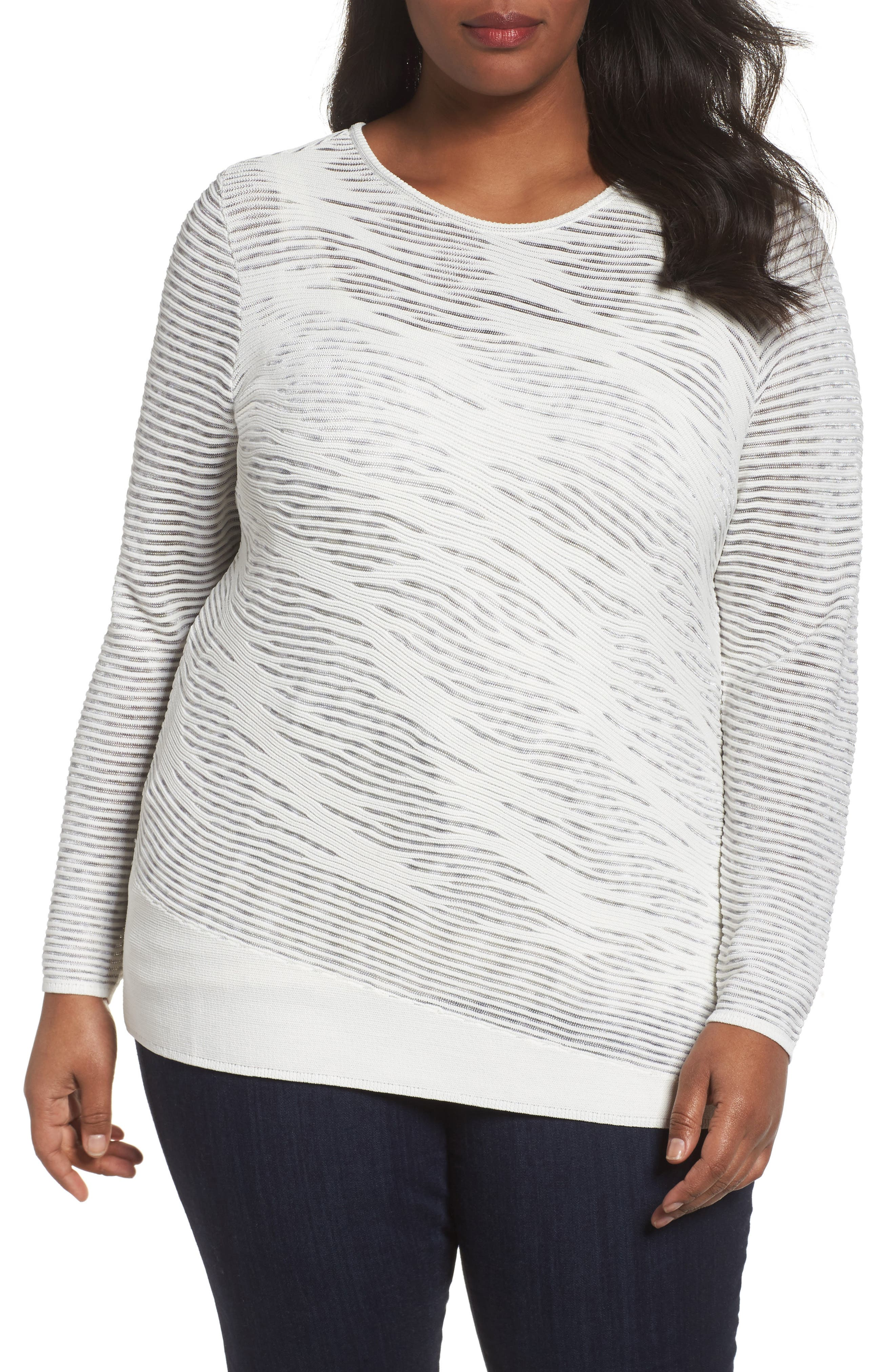 This Is Living Knit Top,                         Main,                         color, Paper White