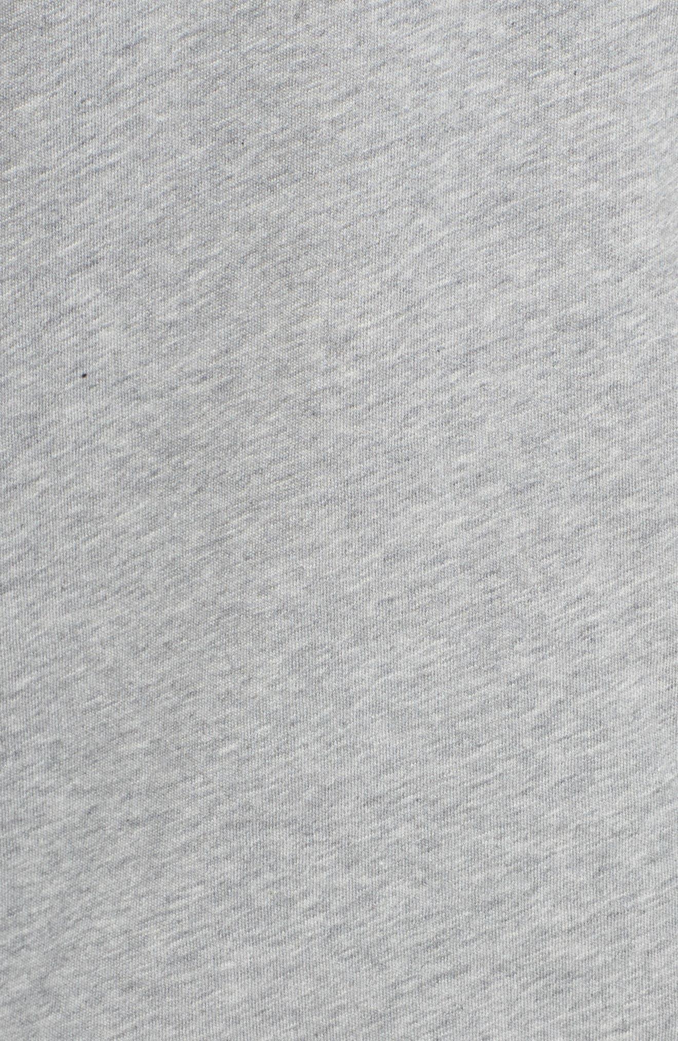 Sportswear Goddess Graphic Tee,                             Alternate thumbnail 6, color,                             Dark Grey Heather/ Black