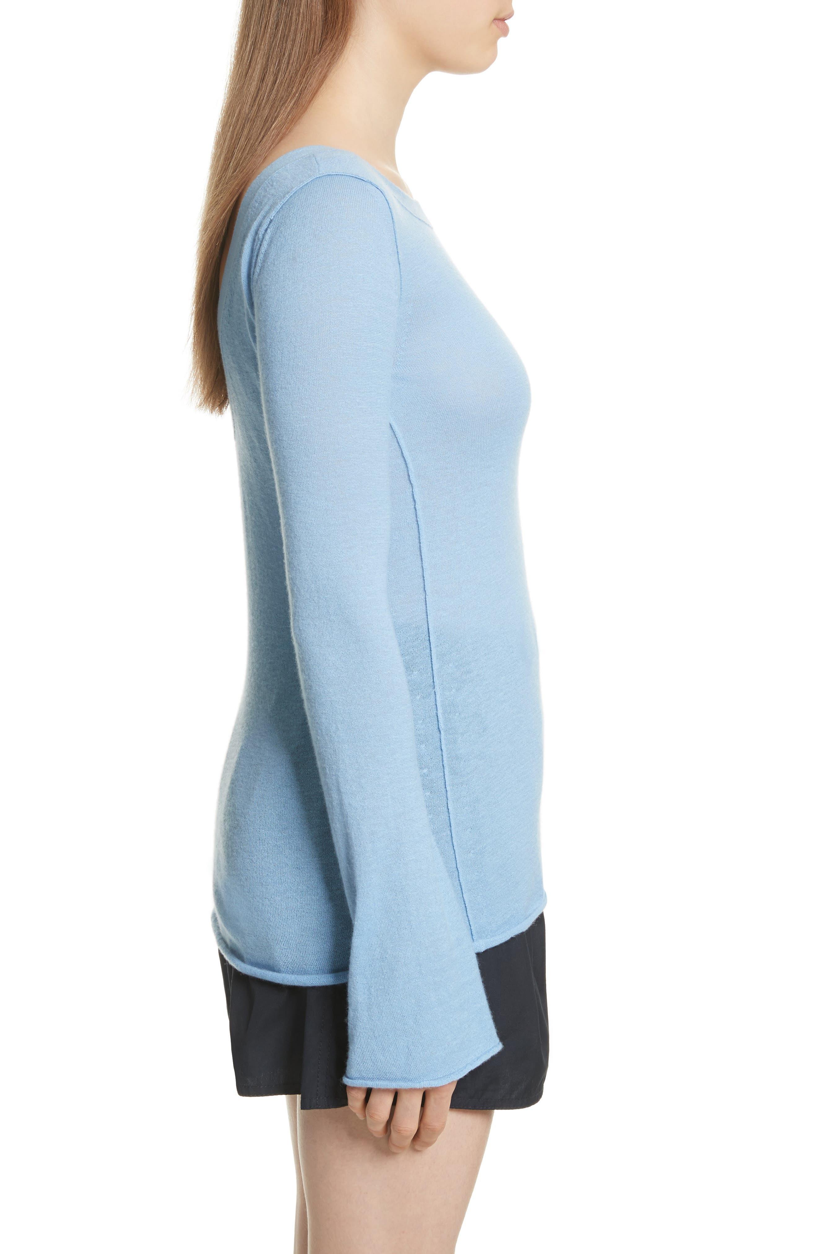 Alternate Image 3  - Vince Cashmere V-Back Cashmere Sweater