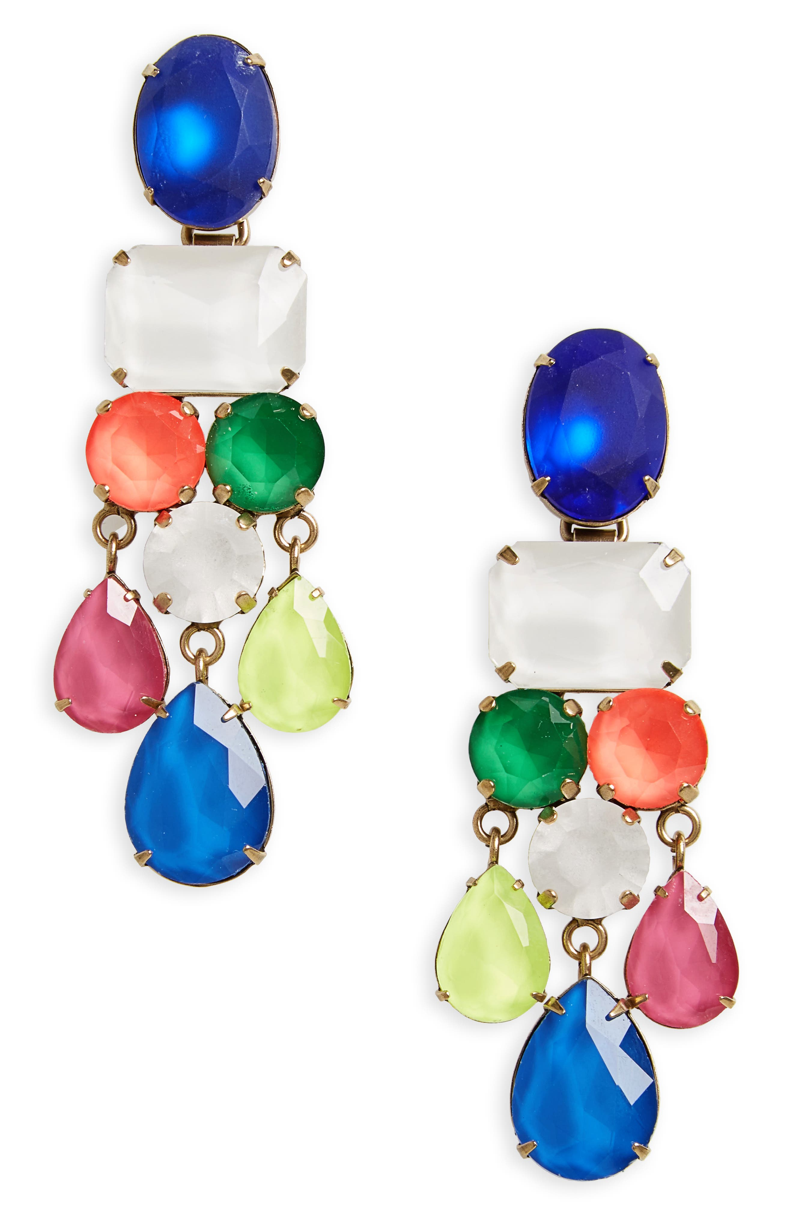 Scarlet Jewel Statement Earrings,                             Main thumbnail 1, color,                             Pink Multi