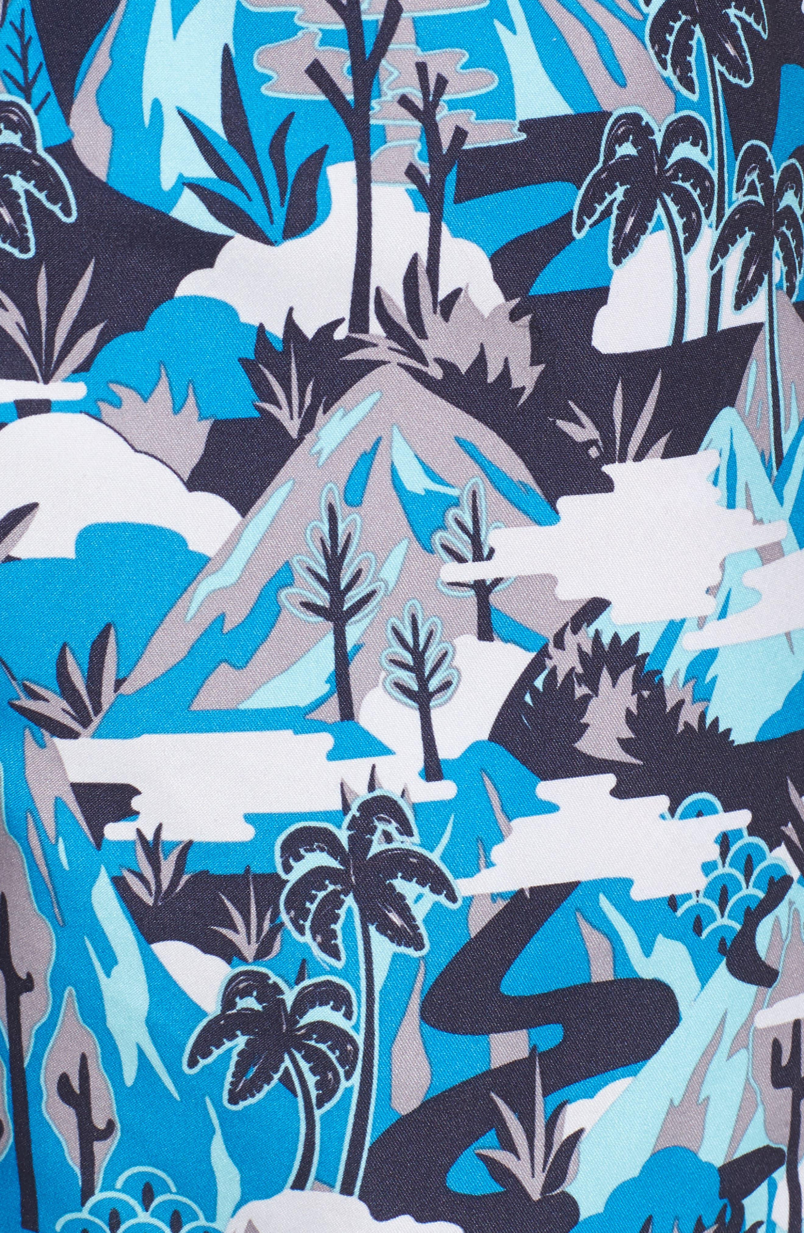 Alternate Image 5  - Ted Baker London Karner Print Swim Trunks