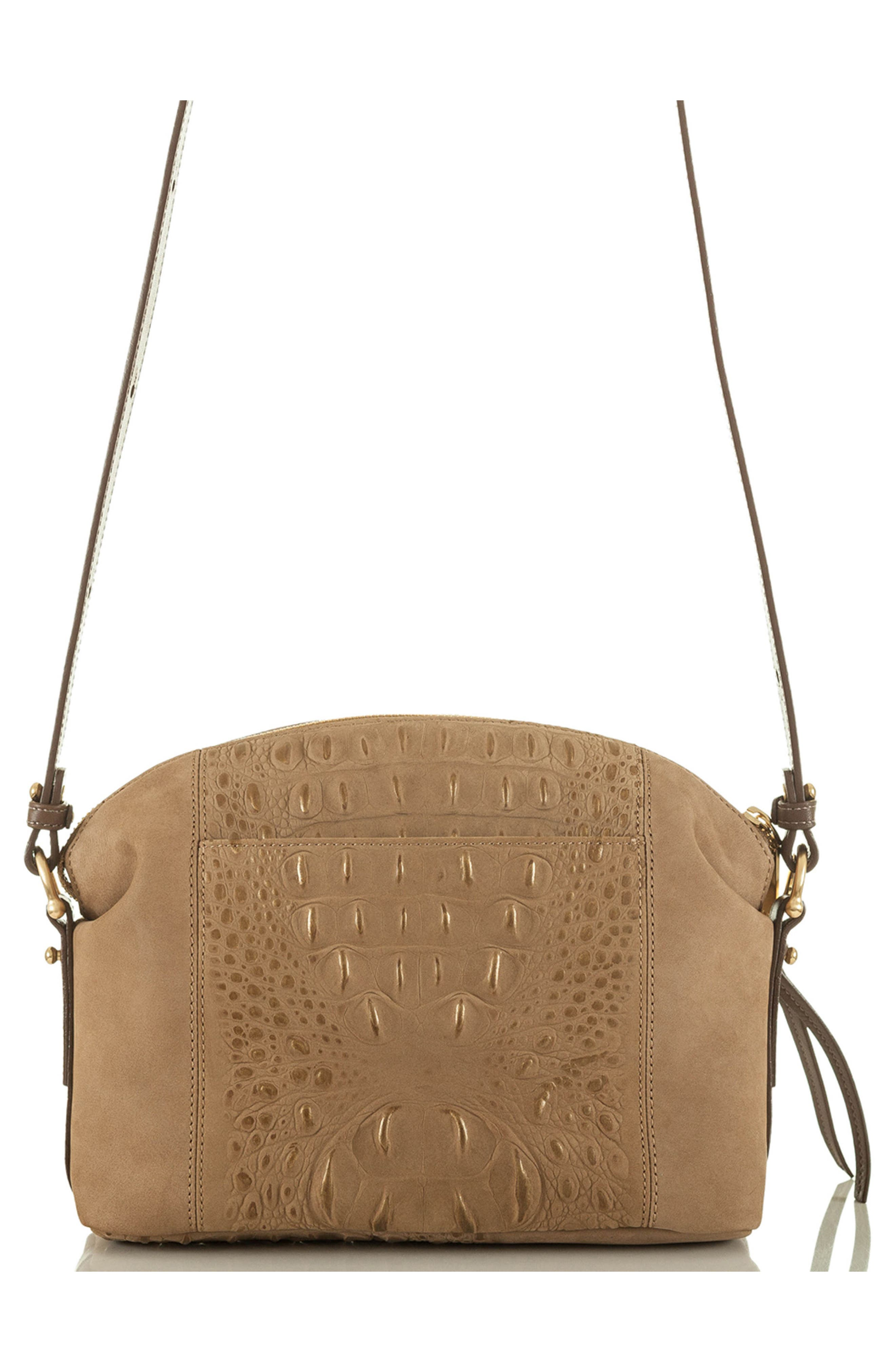 Southcast Haley Metallic Croc Embossed Leather Crossbody Bag,                             Alternate thumbnail 2, color,                             Gold