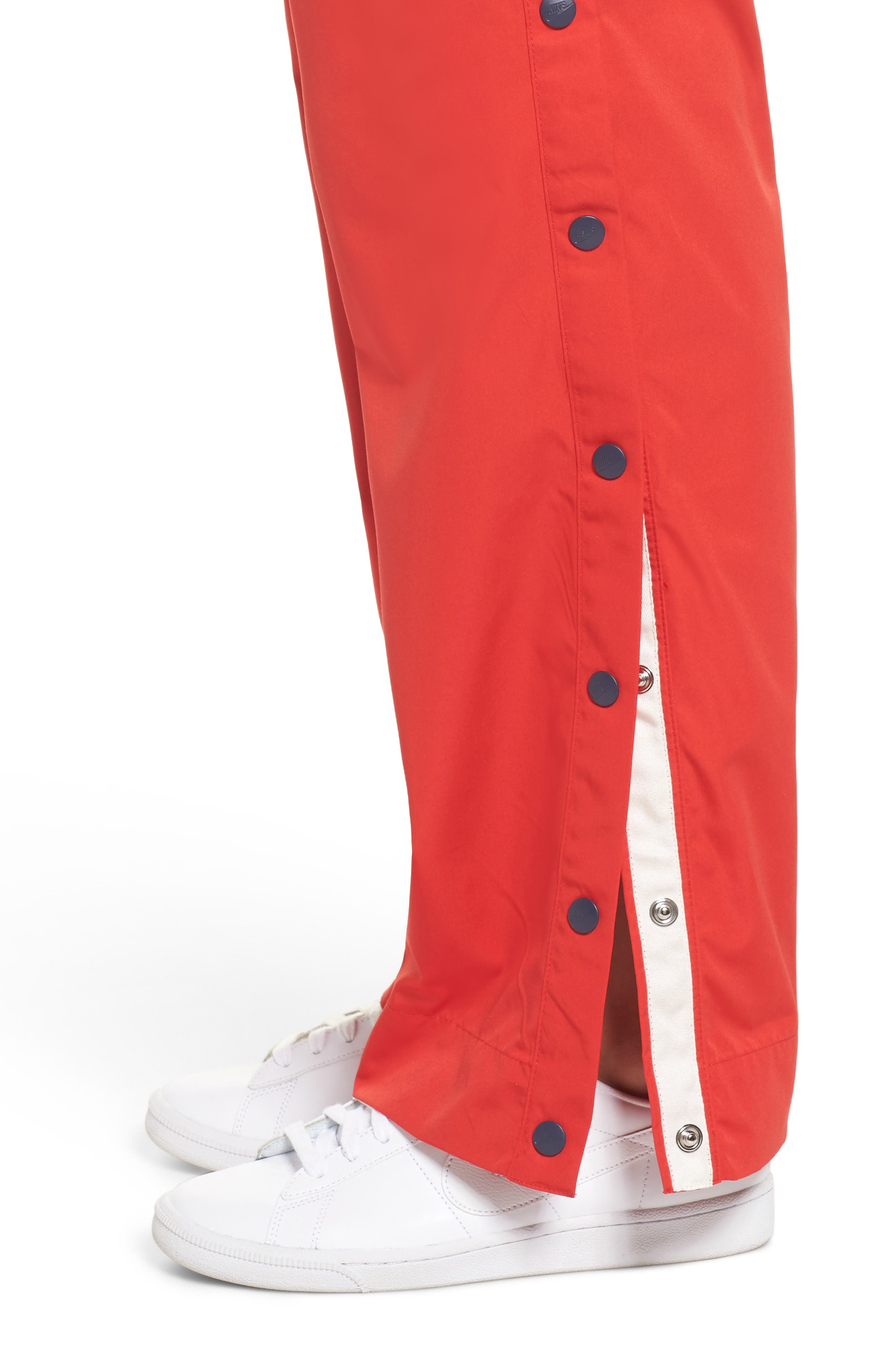 Sportswear Archive Snap Track Pants,                             Alternate thumbnail 6, color,                             University Red/ Thunder Blue