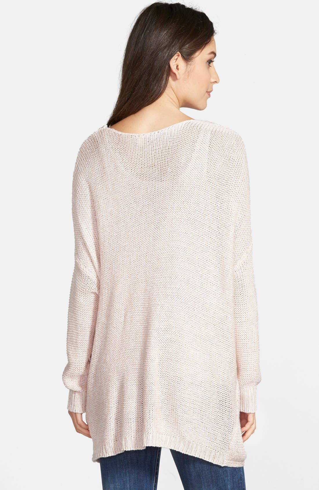 Wrap Front Sweater,                             Alternate thumbnail 2, color,                             Pure Blush Twist