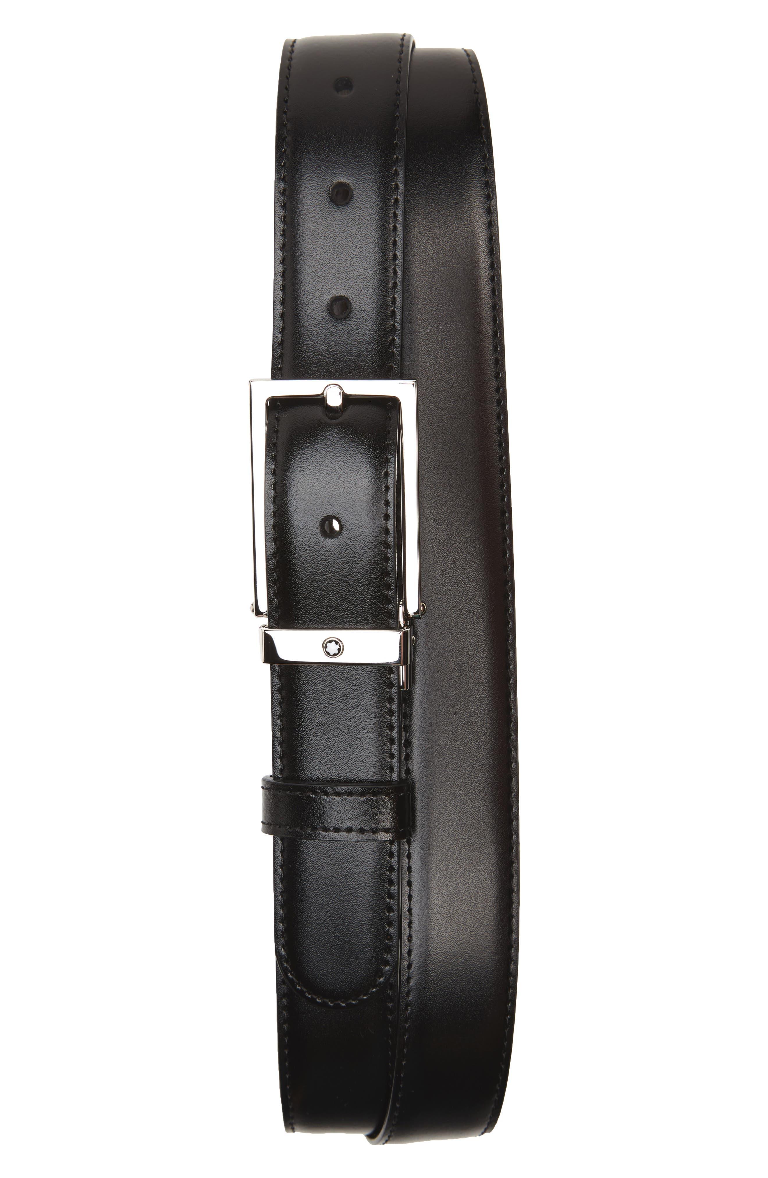 Main Image - MONTBLANC Reversible Leather Belt