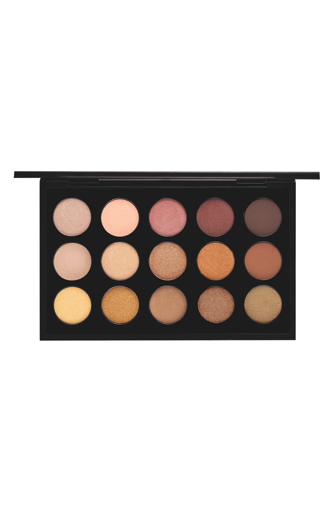 MAC Warm Neutral Times 15 Eyeshadow Palette,                         Main,                         color, Warm Neutral