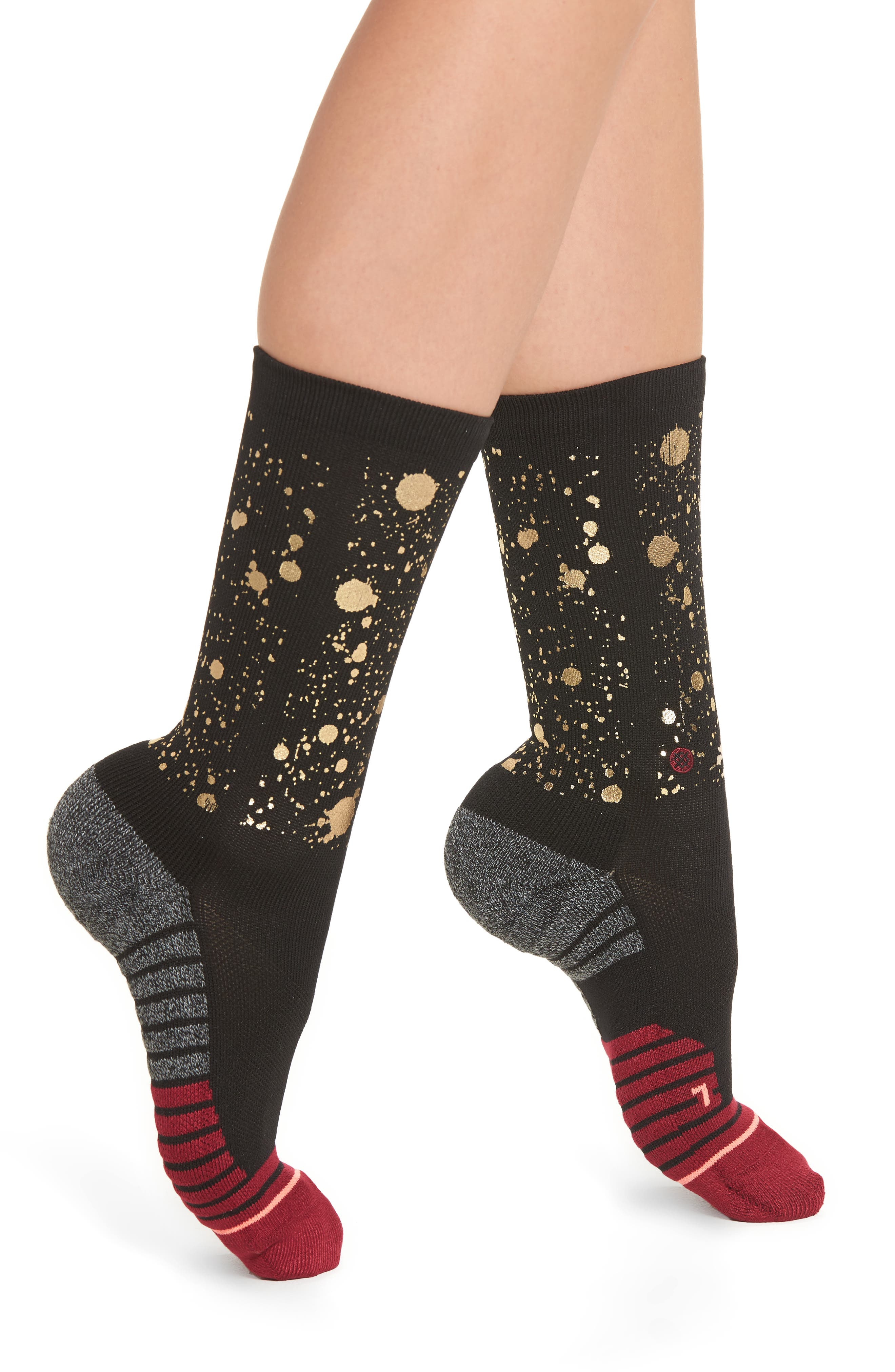 Endorphin Training Socks,                         Main,                         color, Black