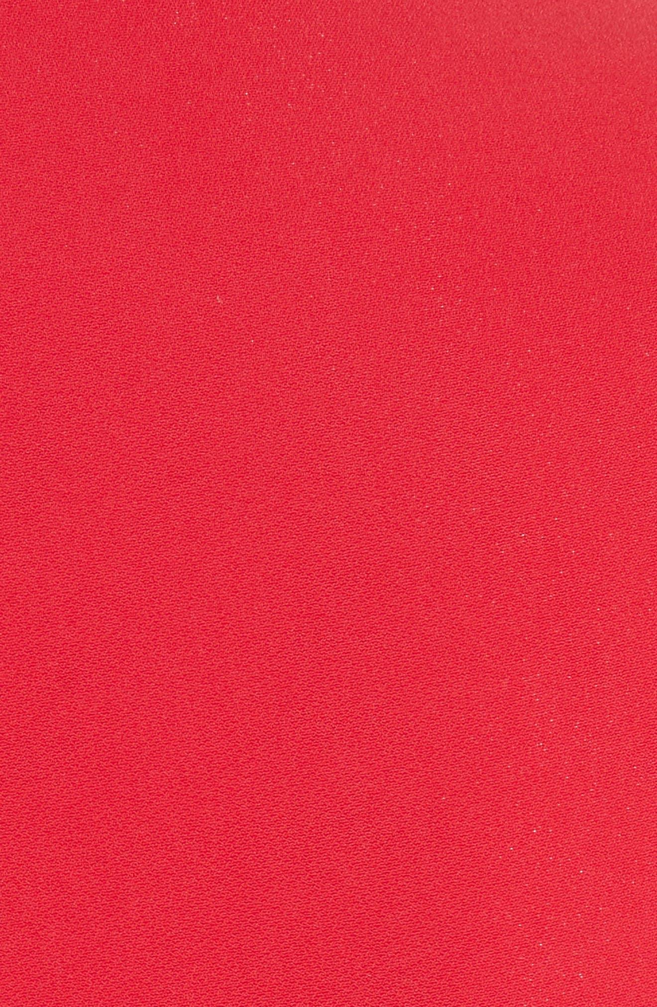 Drape Pocket Crepe Jacket,                             Alternate thumbnail 5, color,                             Red