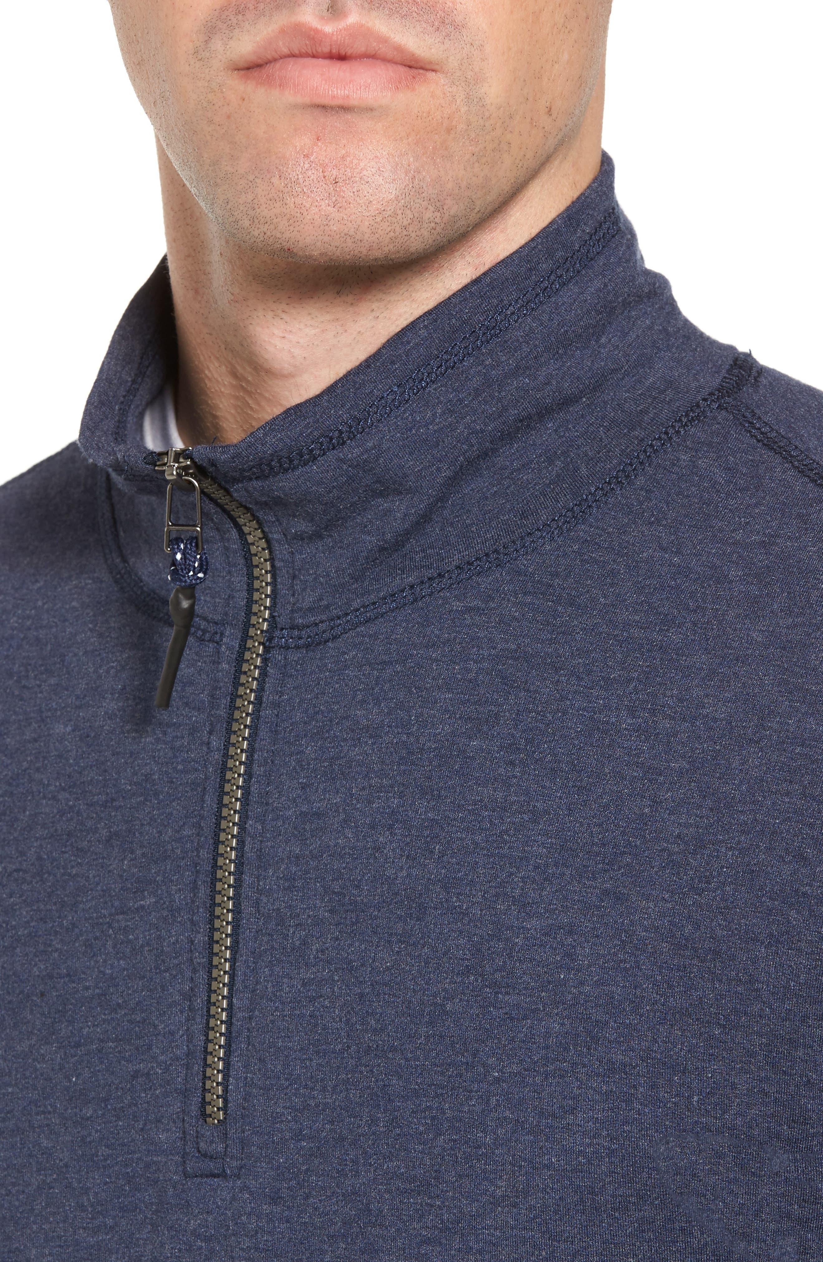 Alternate Image 4  - Surfside Supply Brushback Quarter Zip Pullover