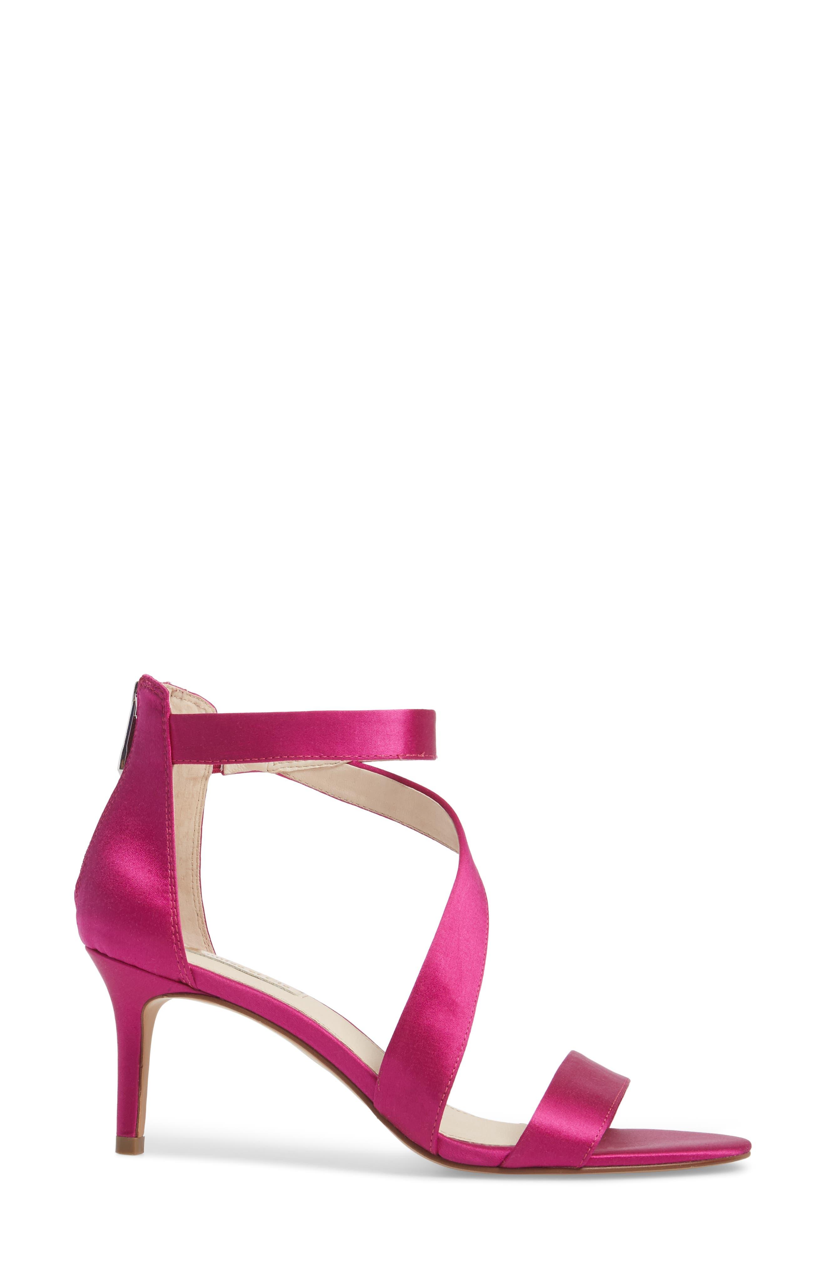 Hilio Sandal,                             Alternate thumbnail 3, color,                             Electric Pink Satin