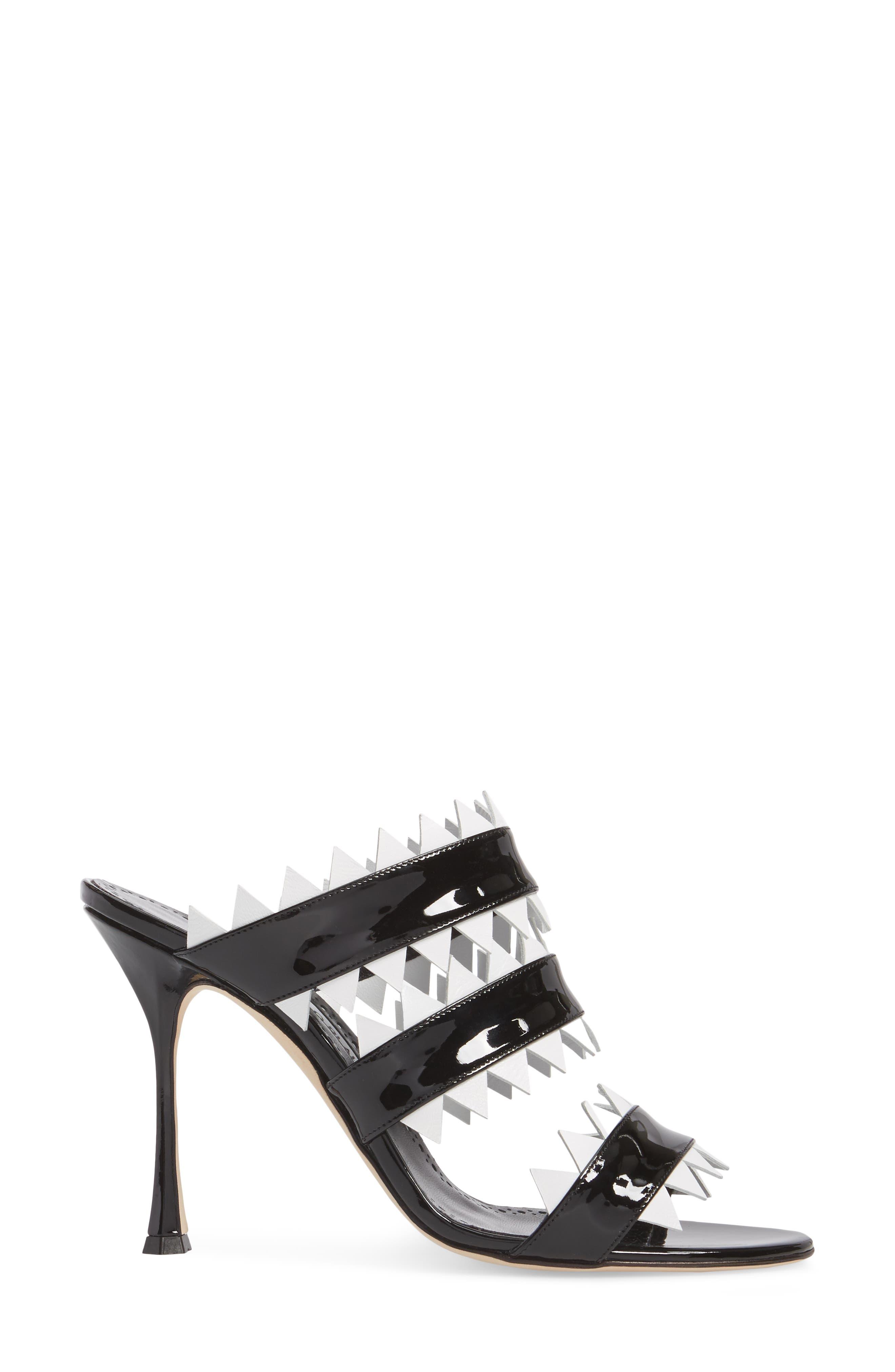 Arpege Mule Sandal,                             Alternate thumbnail 3, color,                             Black/ White
