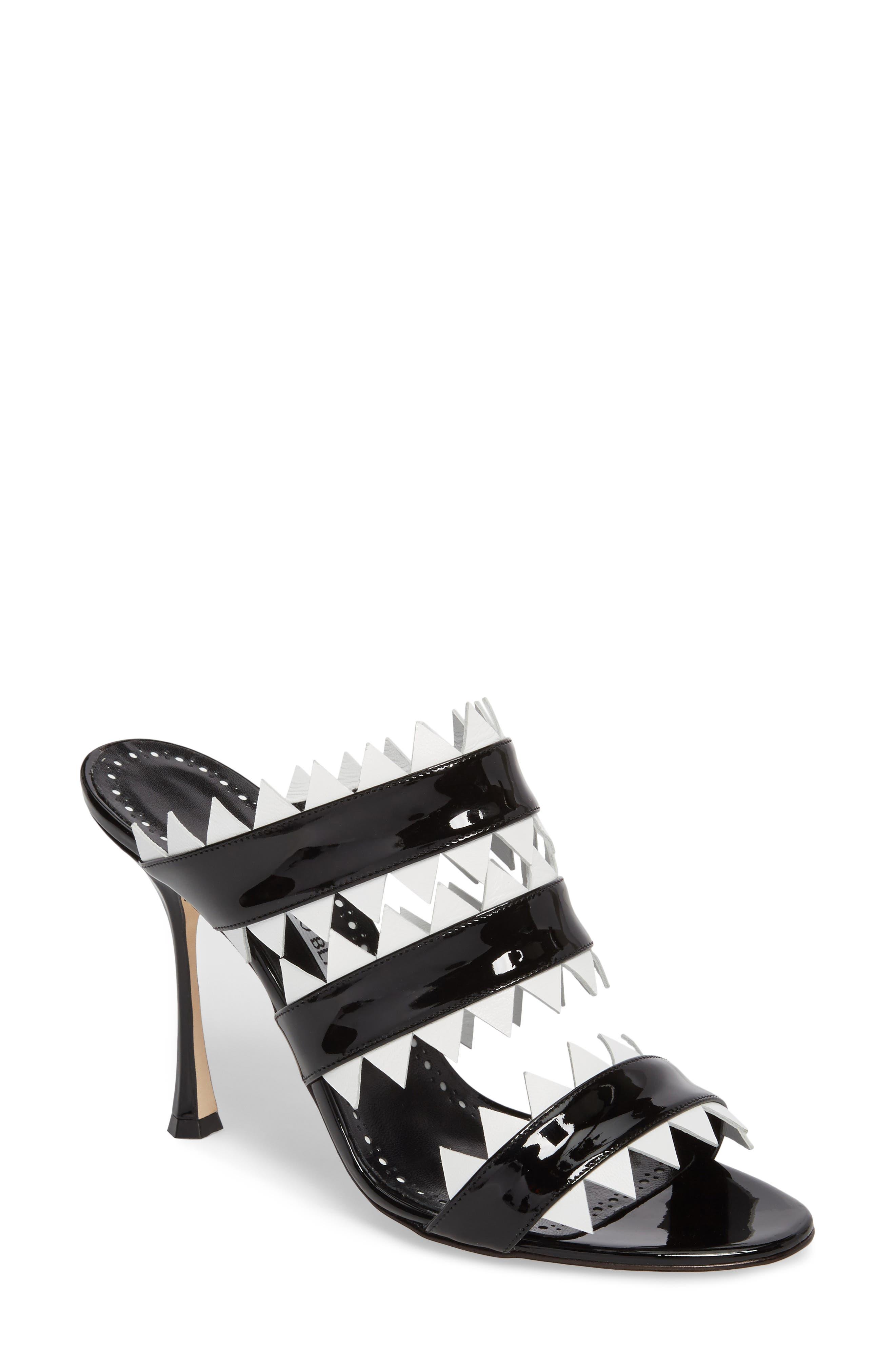 Arpege Mule Sandal,                         Main,                         color, Black/ White