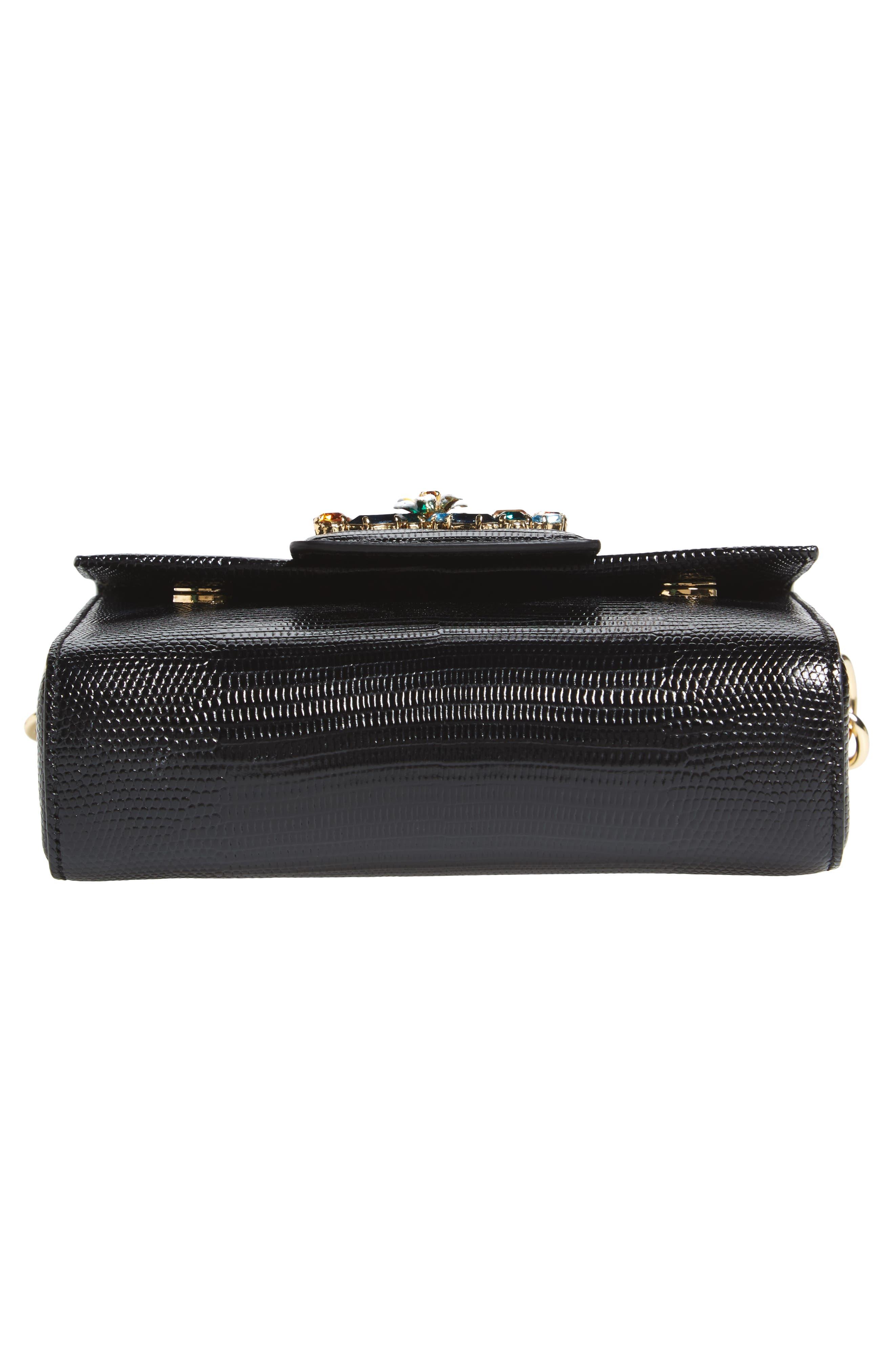 Alternate Image 6  - Dolce&Gabbana Millennial Reptile Embossed Leather Crossbody Bag