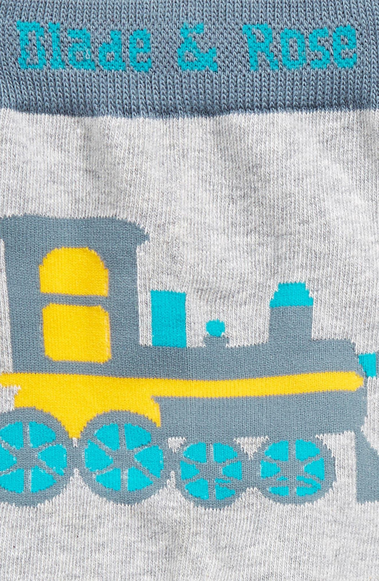 Train Leggings,                             Alternate thumbnail 2, color,                             Grey / Yellow / Blue