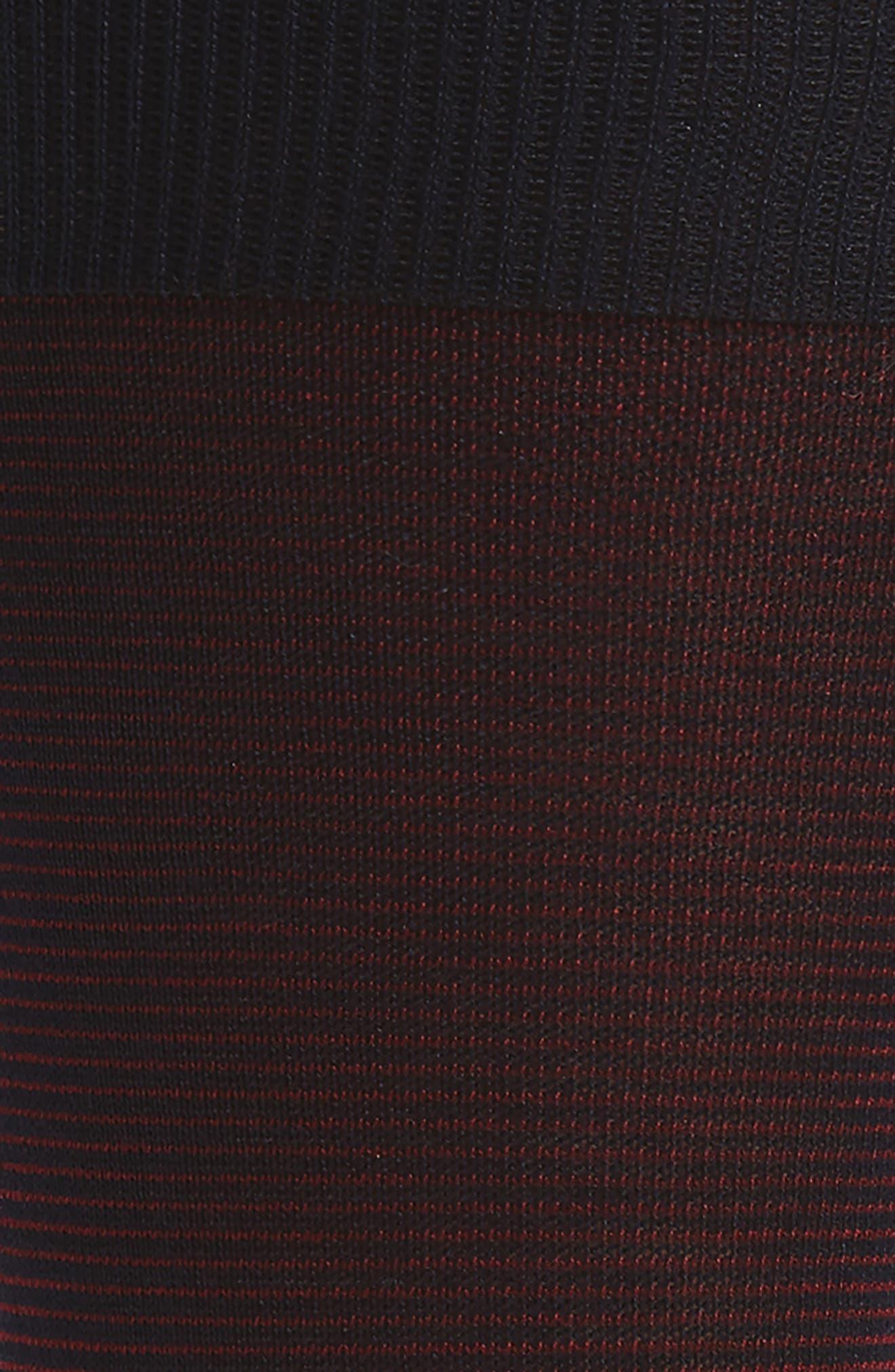 Microstripe Socks,                             Alternate thumbnail 2, color,                             Navy