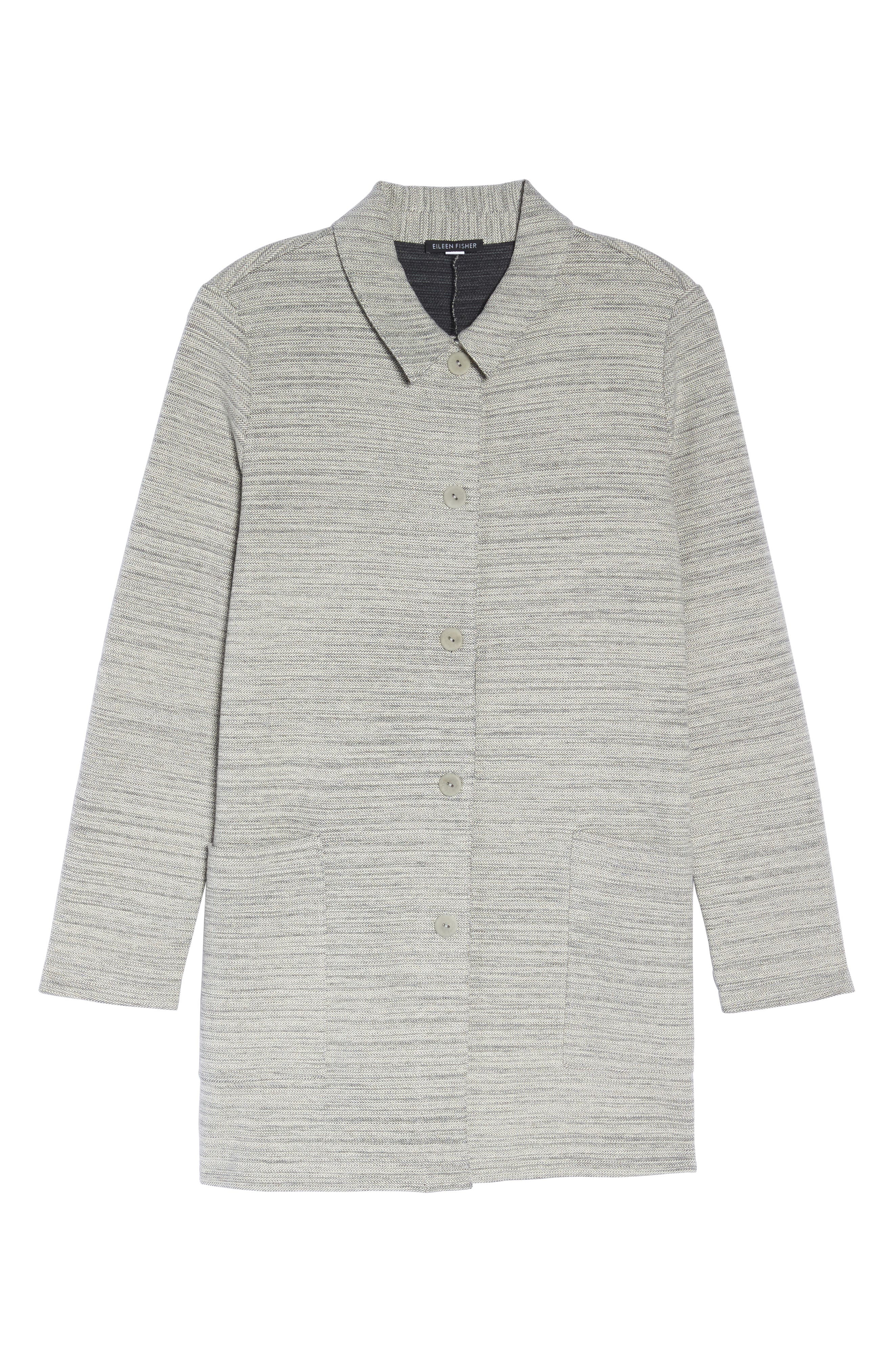 Cotton Blend Tweed Jacket,                             Alternate thumbnail 6, color,                             Dark Pearl