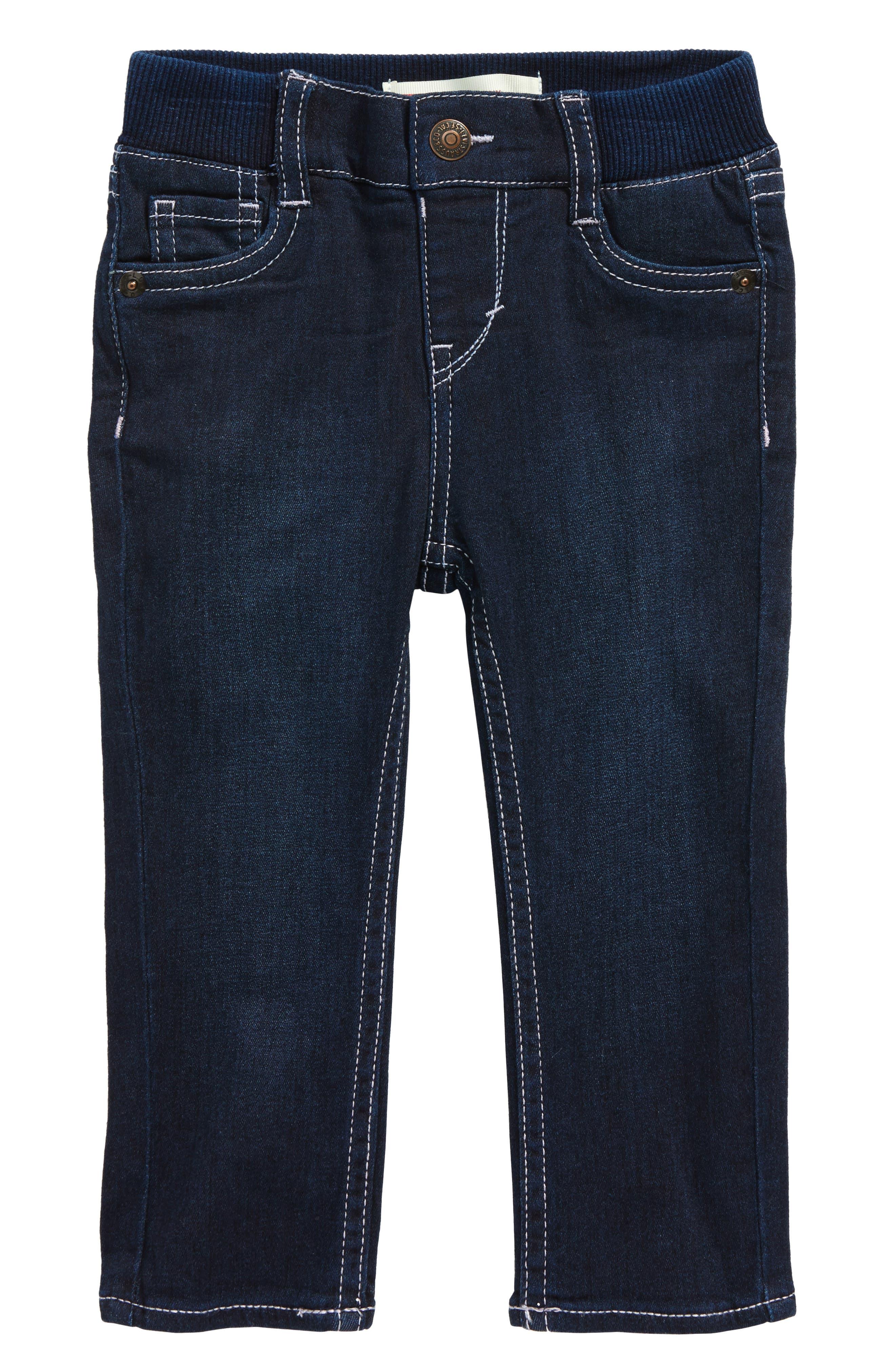 Alternate Image 1 Selected - Levi's® Skinny Jeans (Baby Girls)