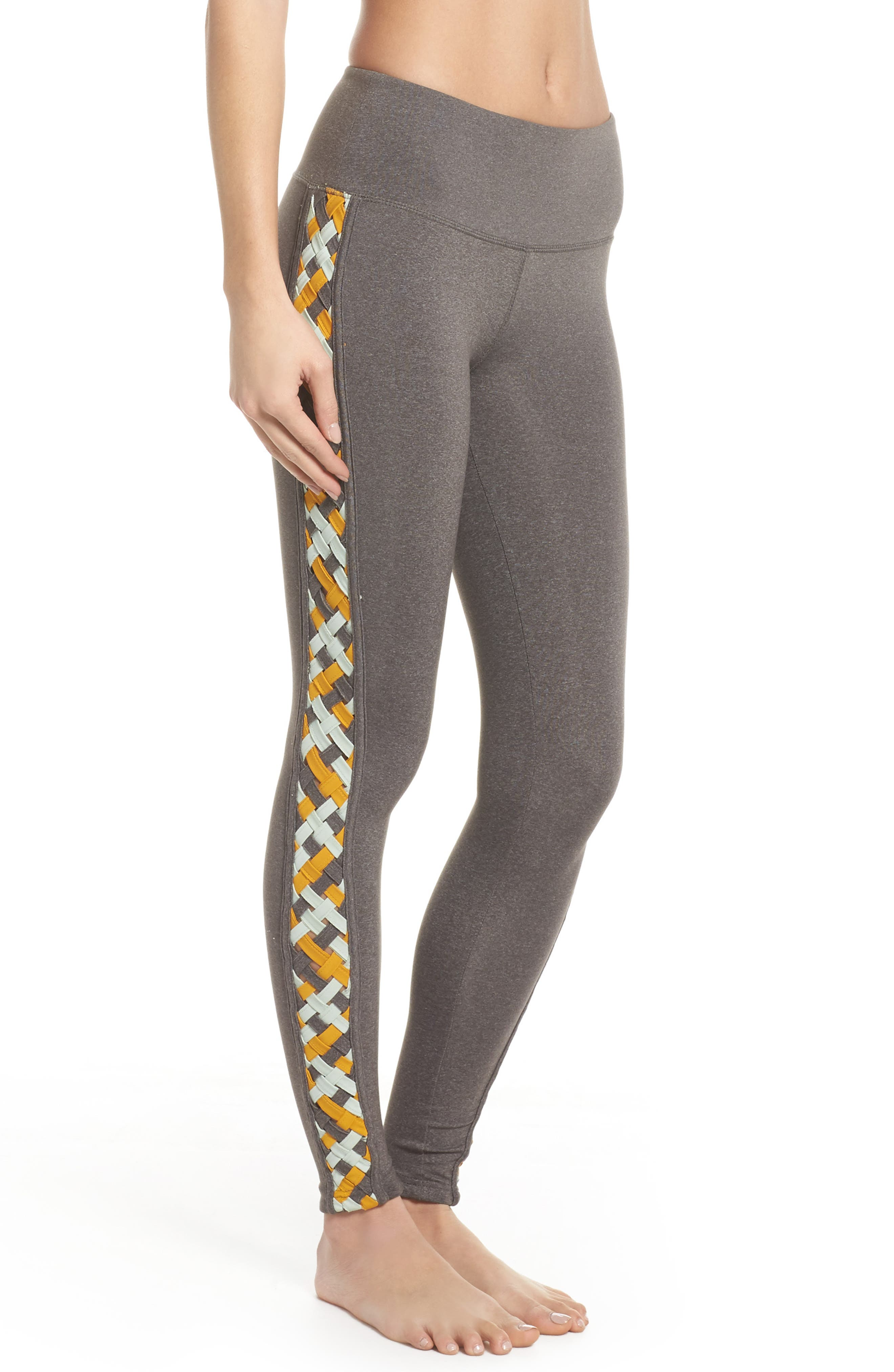 Free People Vision Leggings,                             Alternate thumbnail 3, color,                             Light Grey