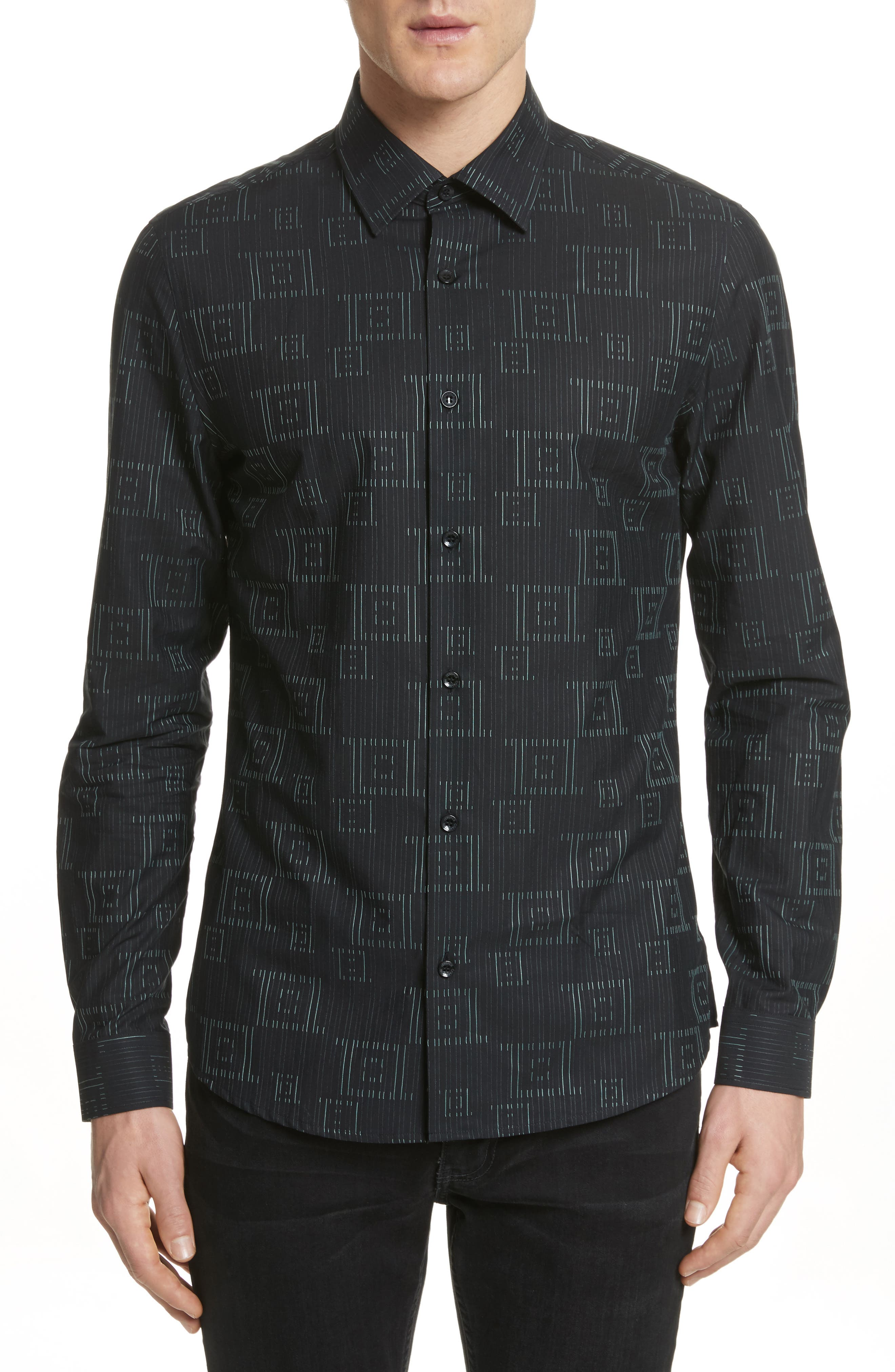 Alternate Image 1 Selected - Versace Collection Frame Print Shirt