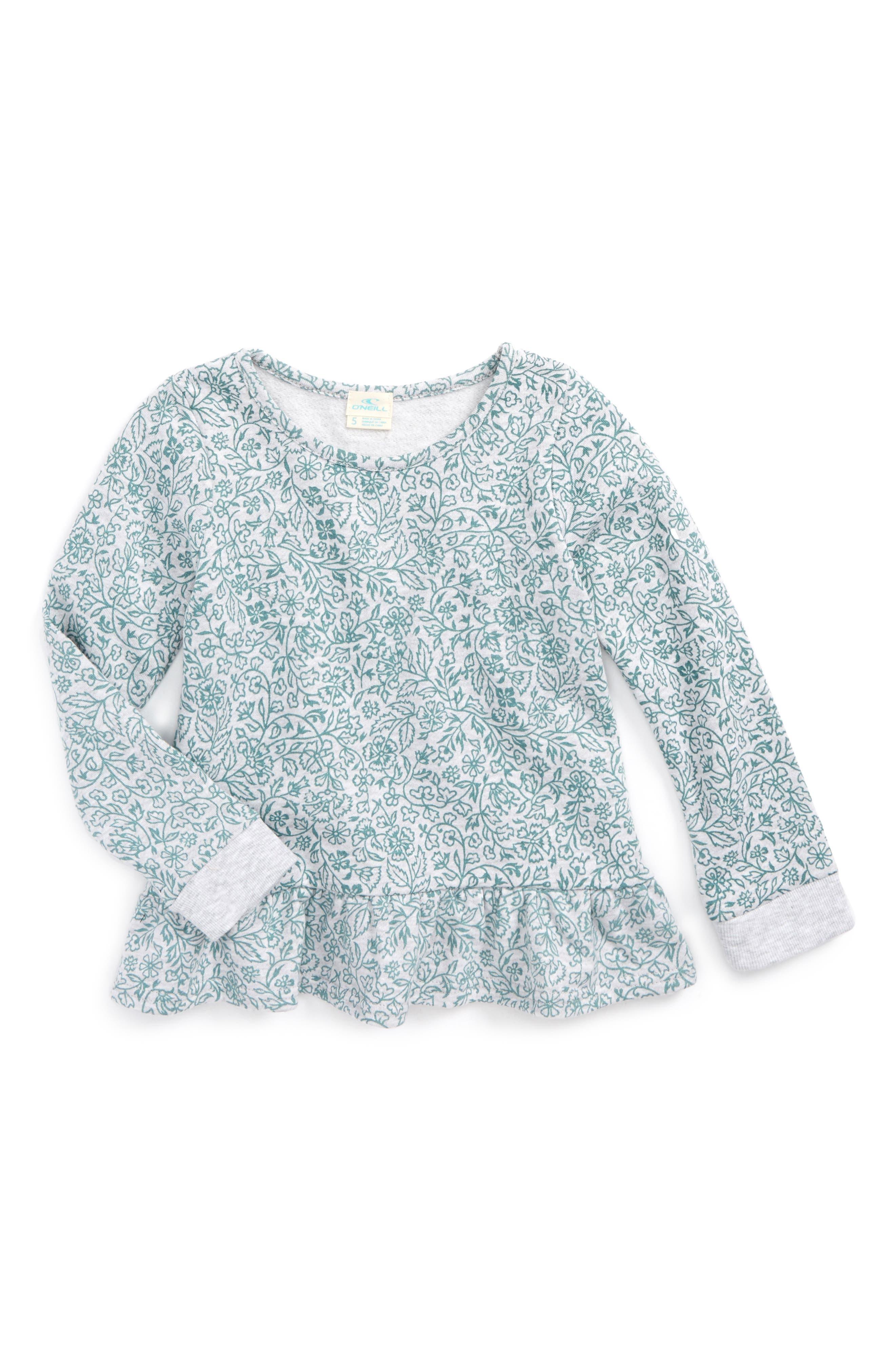 Alternate Image 1 Selected - O'Neill Loveland Fleece Sweatshirt (Toddler Girls & Little Girls)