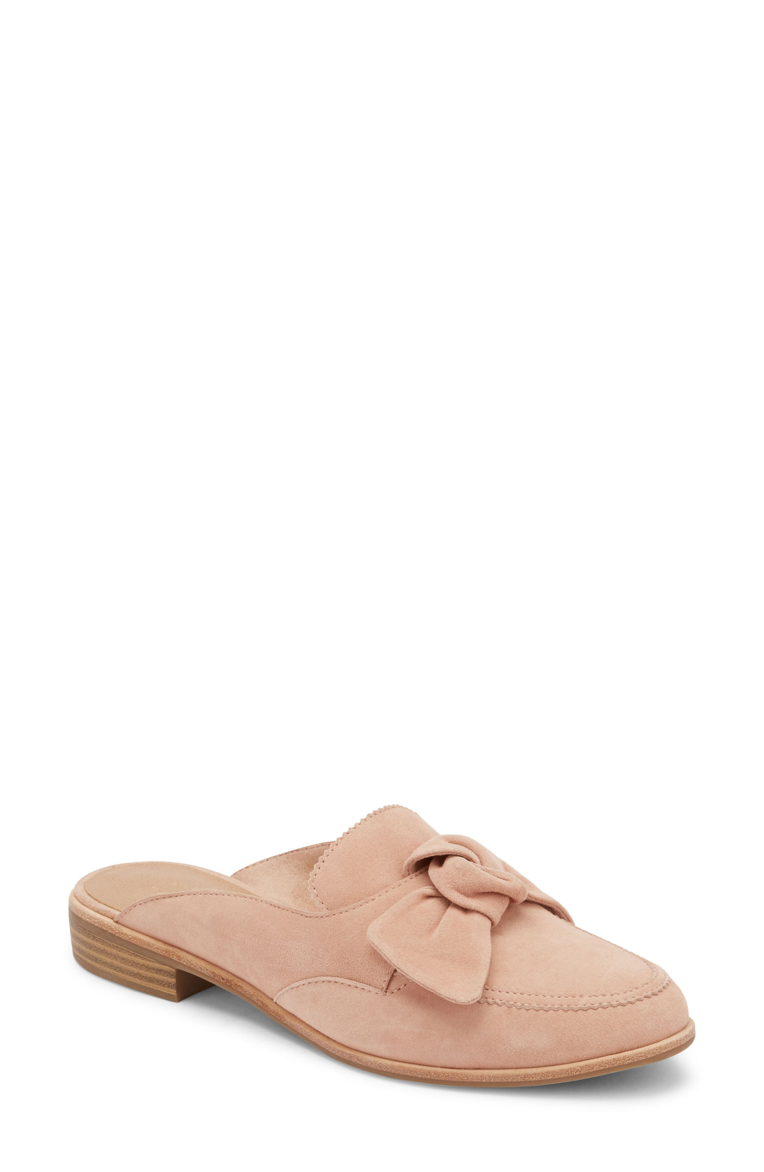 G.H. BASS & CO. Ebbie Bow Mule in Rose Suede