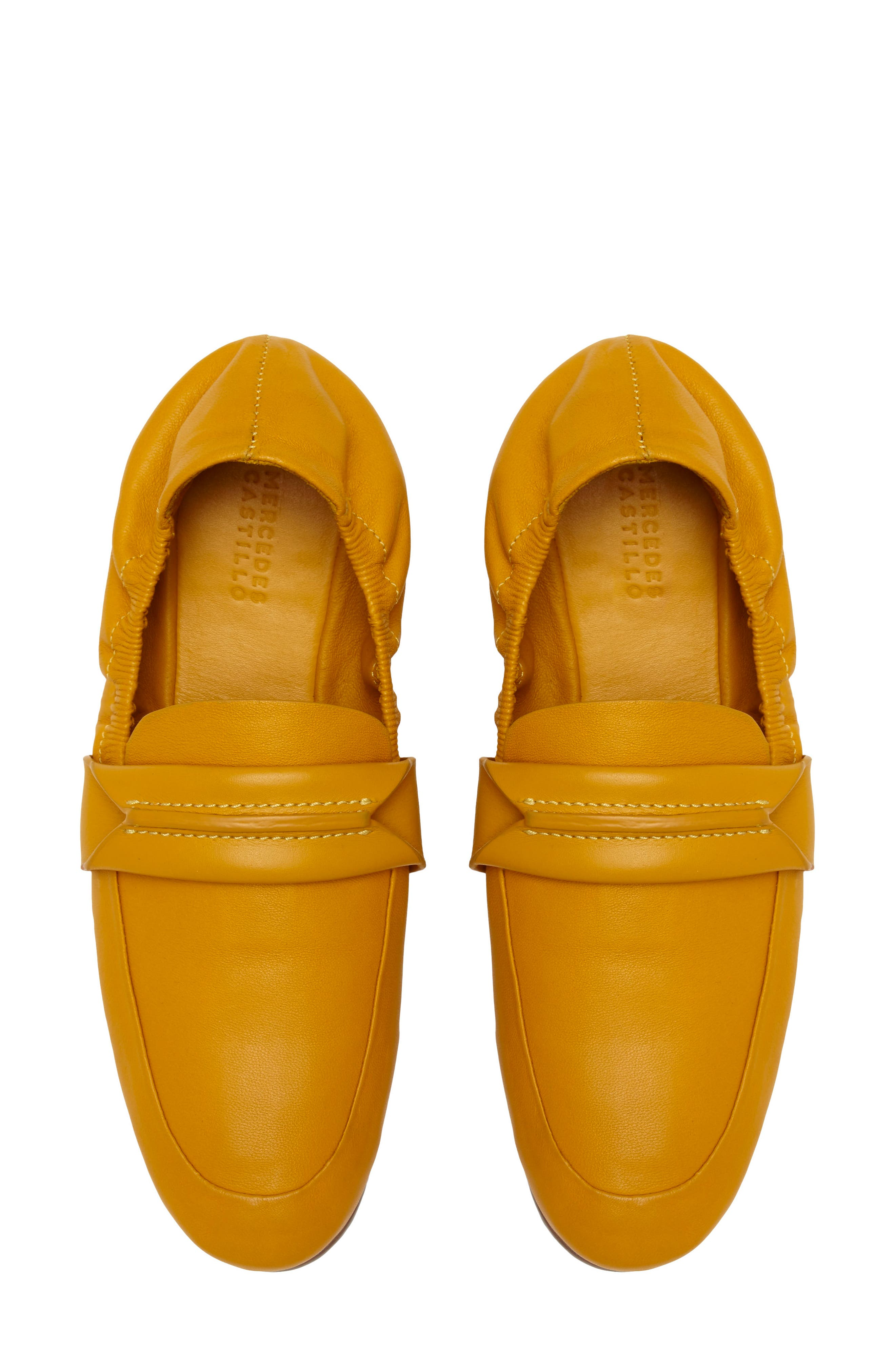Erin Loafer Flat,                             Alternate thumbnail 7, color,                             Mustard