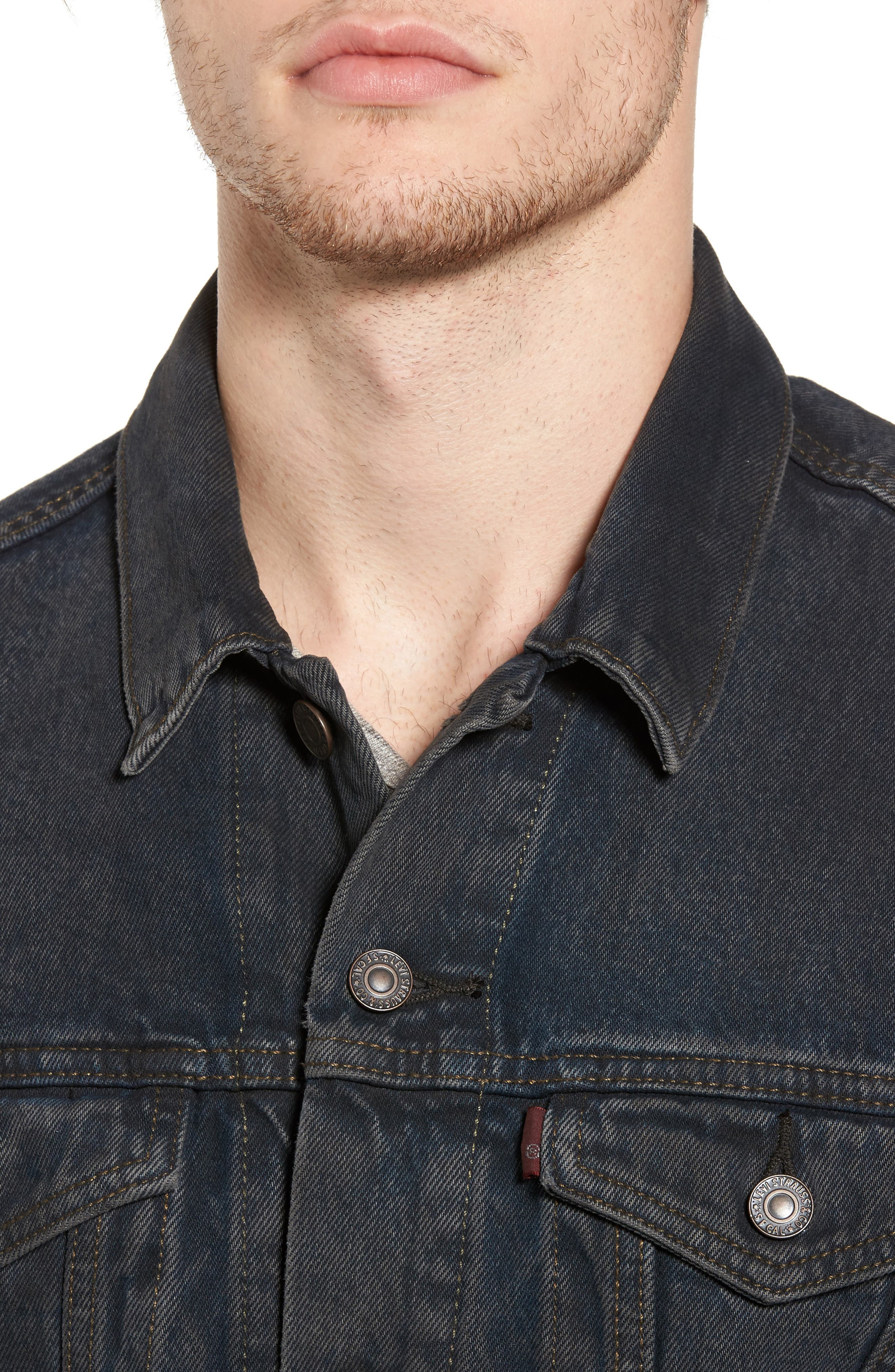 Trucker Denim Jacket,                             Alternate thumbnail 3, color,                             Grey Od