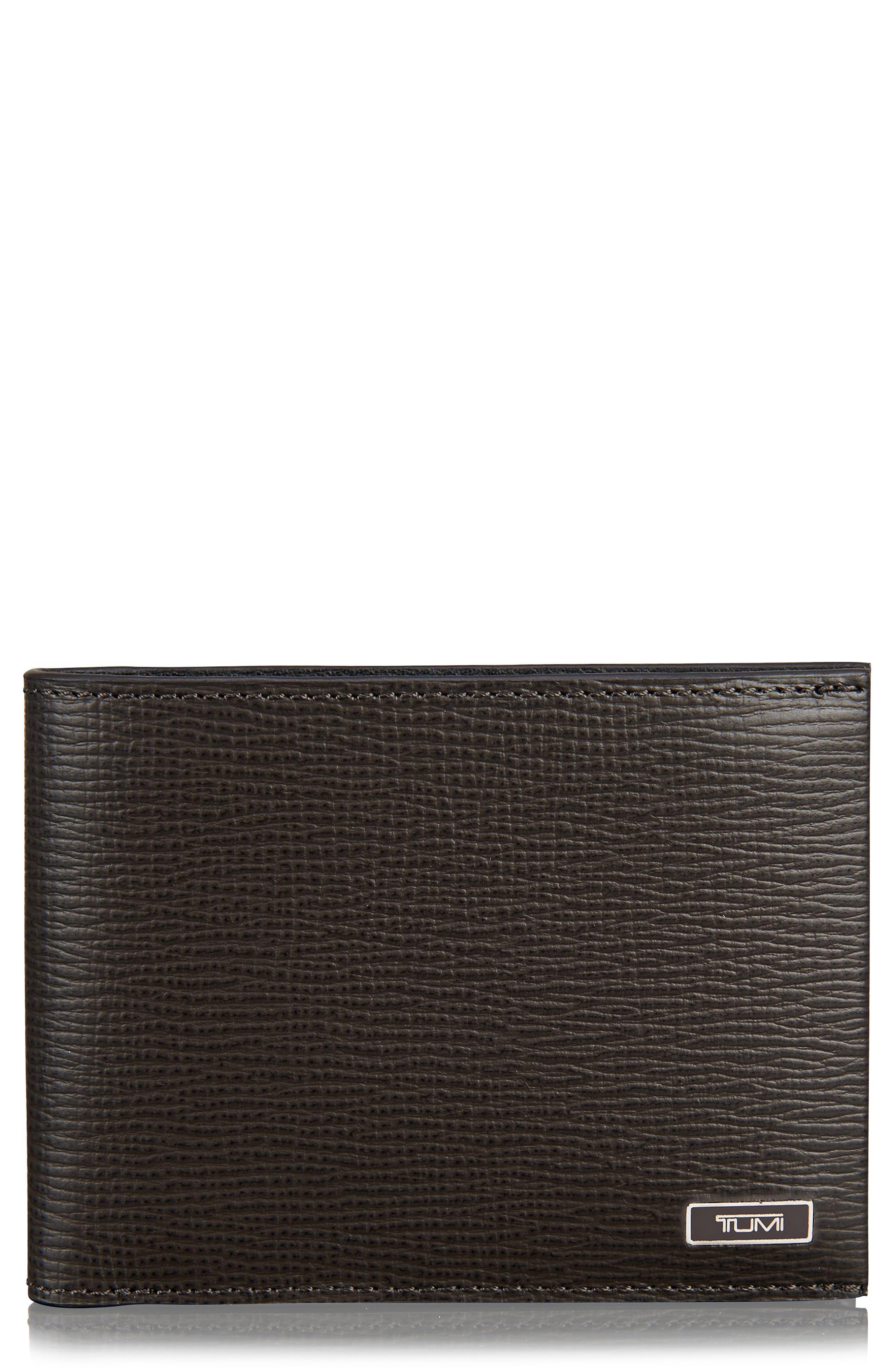 Monaco Leather Wallet,                             Main thumbnail 1, color,                             Taupe