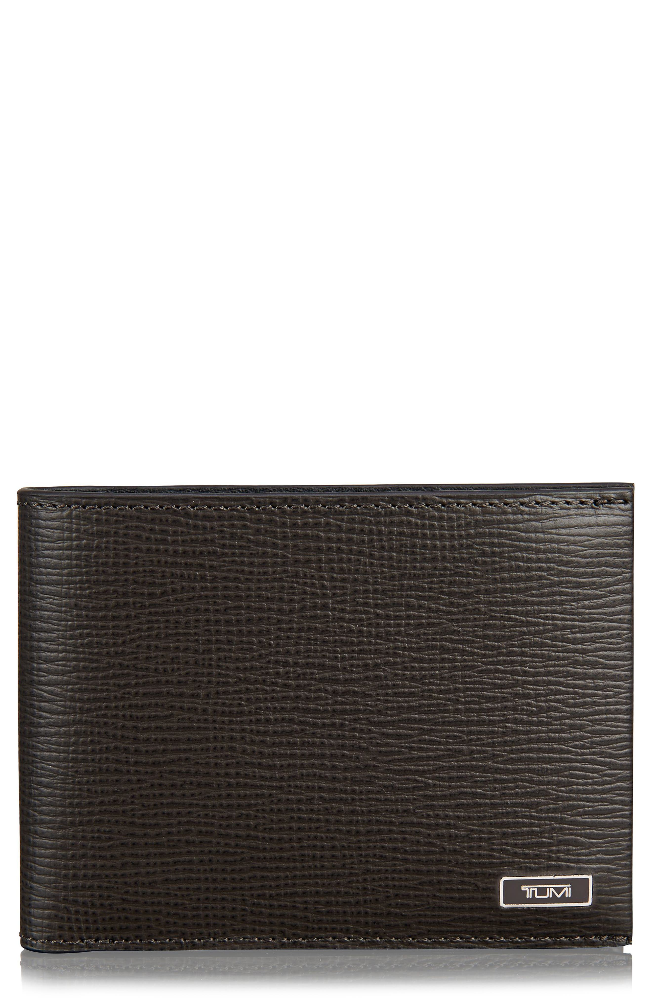 Monaco Leather Wallet,                         Main,                         color, Taupe