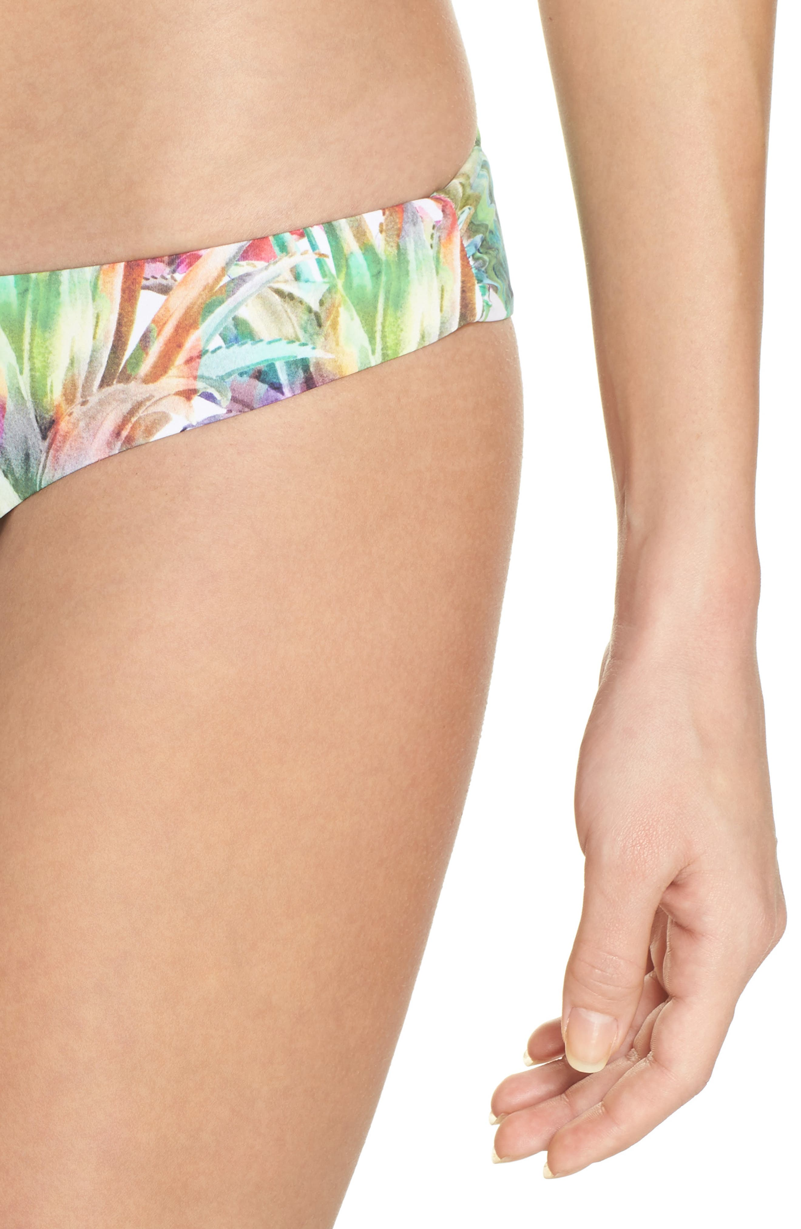 Ruched Teeny Bikini Bottoms,                             Alternate thumbnail 4, color,                             Lanai