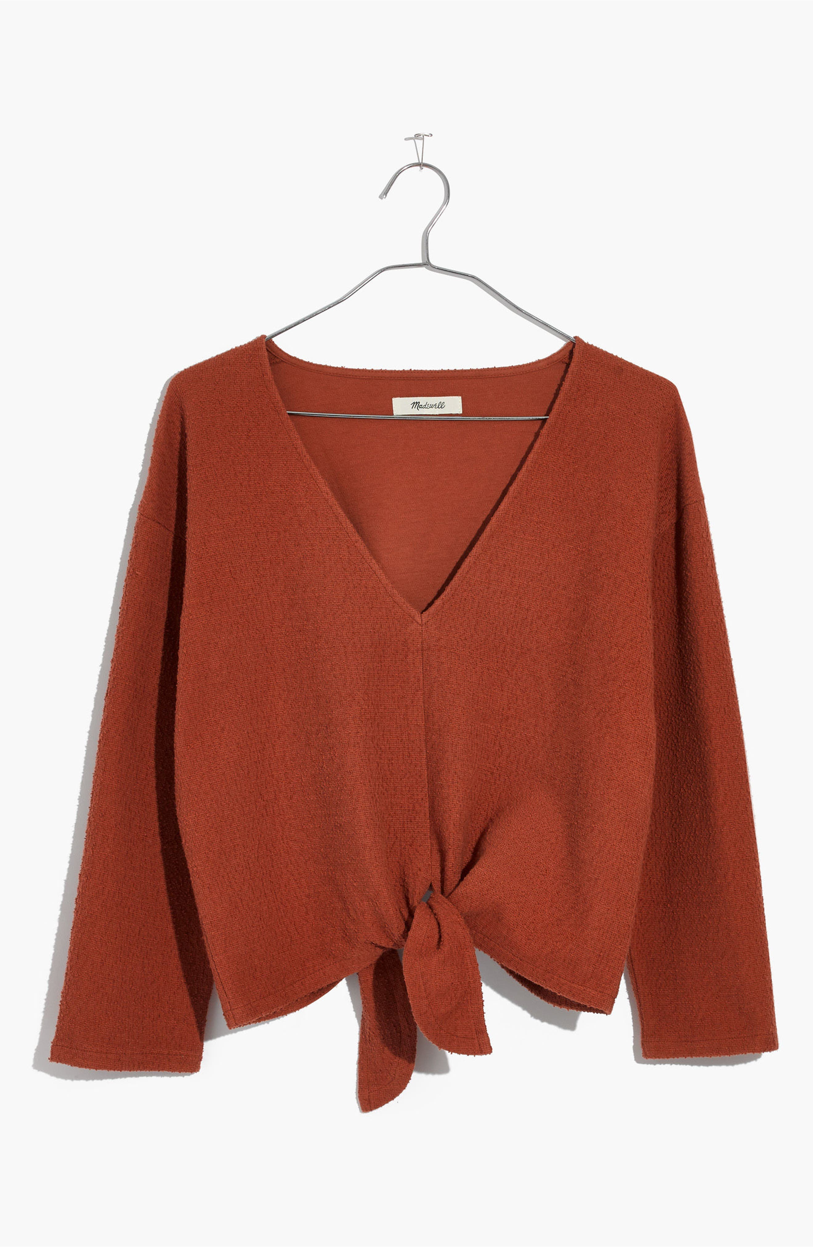 Alternate Image 6  - Madewell Textured Tie Front Top