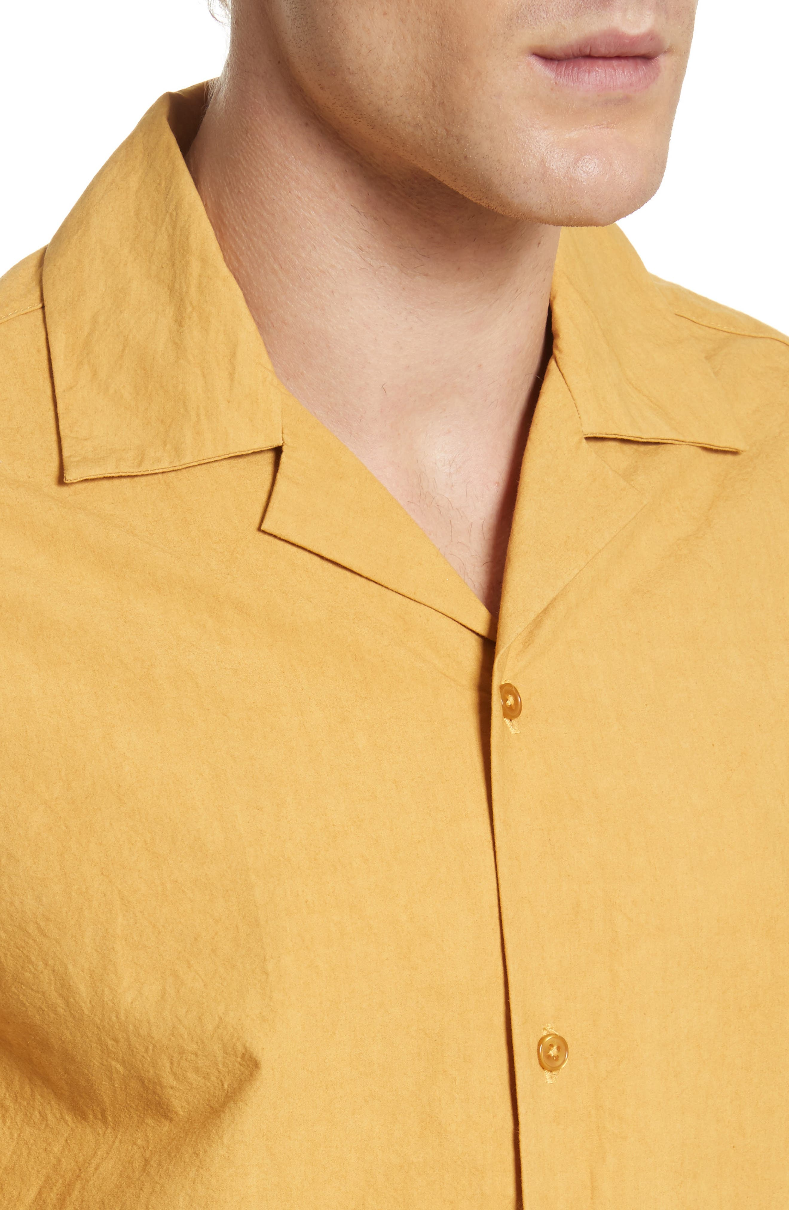 Canty Woven Camp Shirt,                             Alternate thumbnail 2, color,                             Dusty Amber