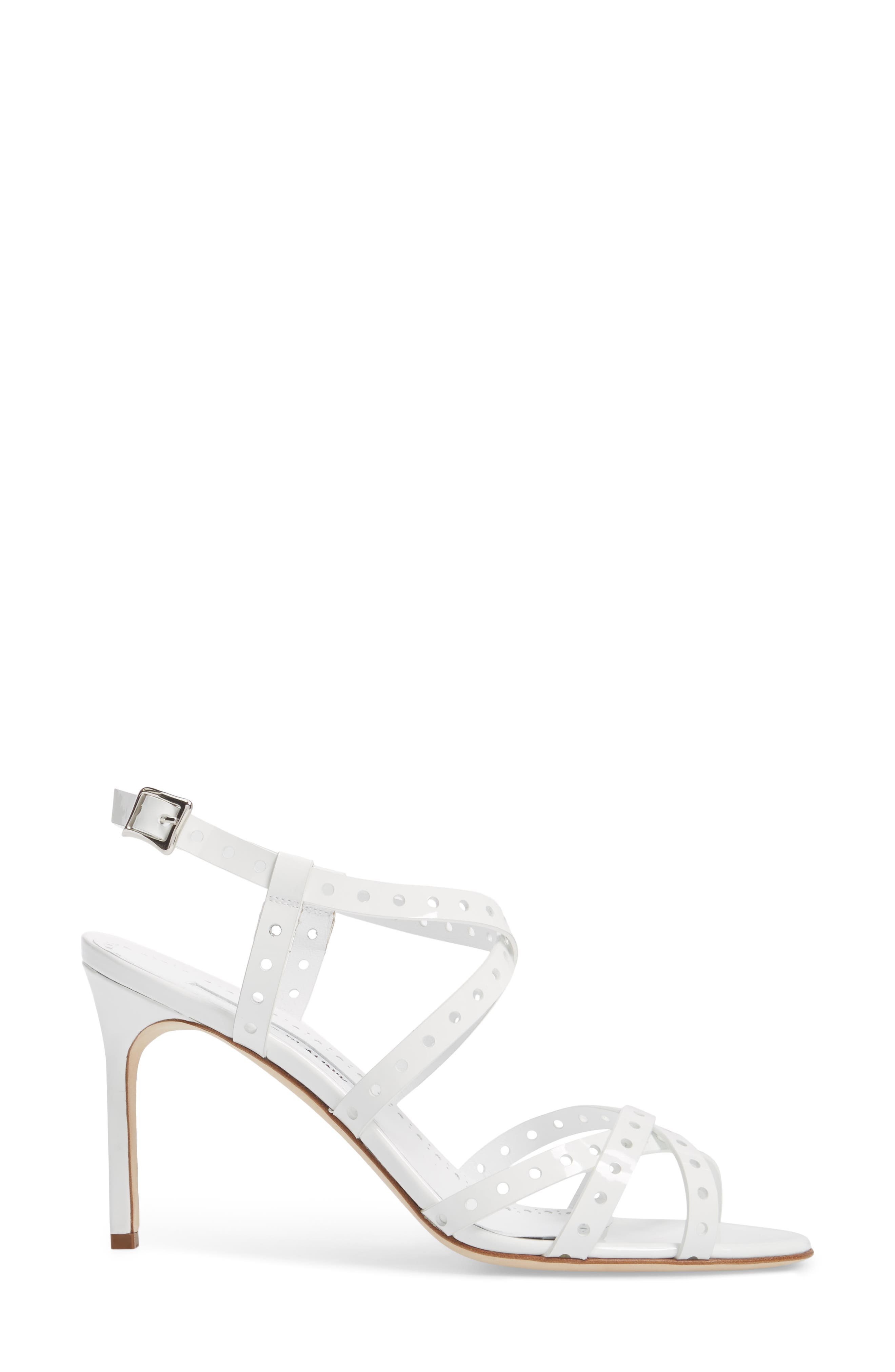 Alternate Image 3  - Manolo Blahnik Demure Perforated Strappy Sandal (Women)