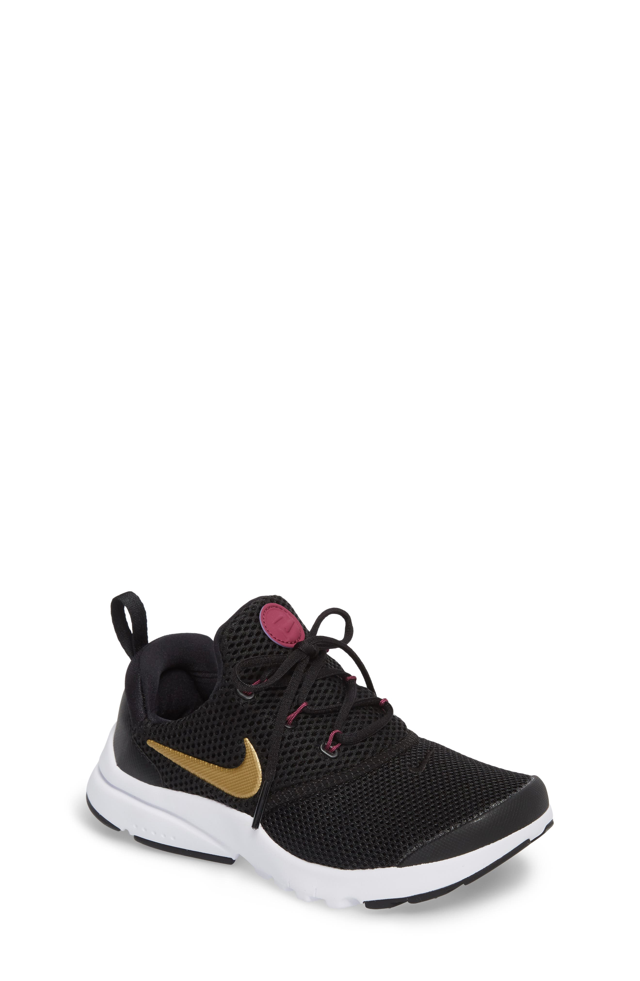 Presto Fly PS Sneaker,                             Main thumbnail 1, color,                             Black/ Gold