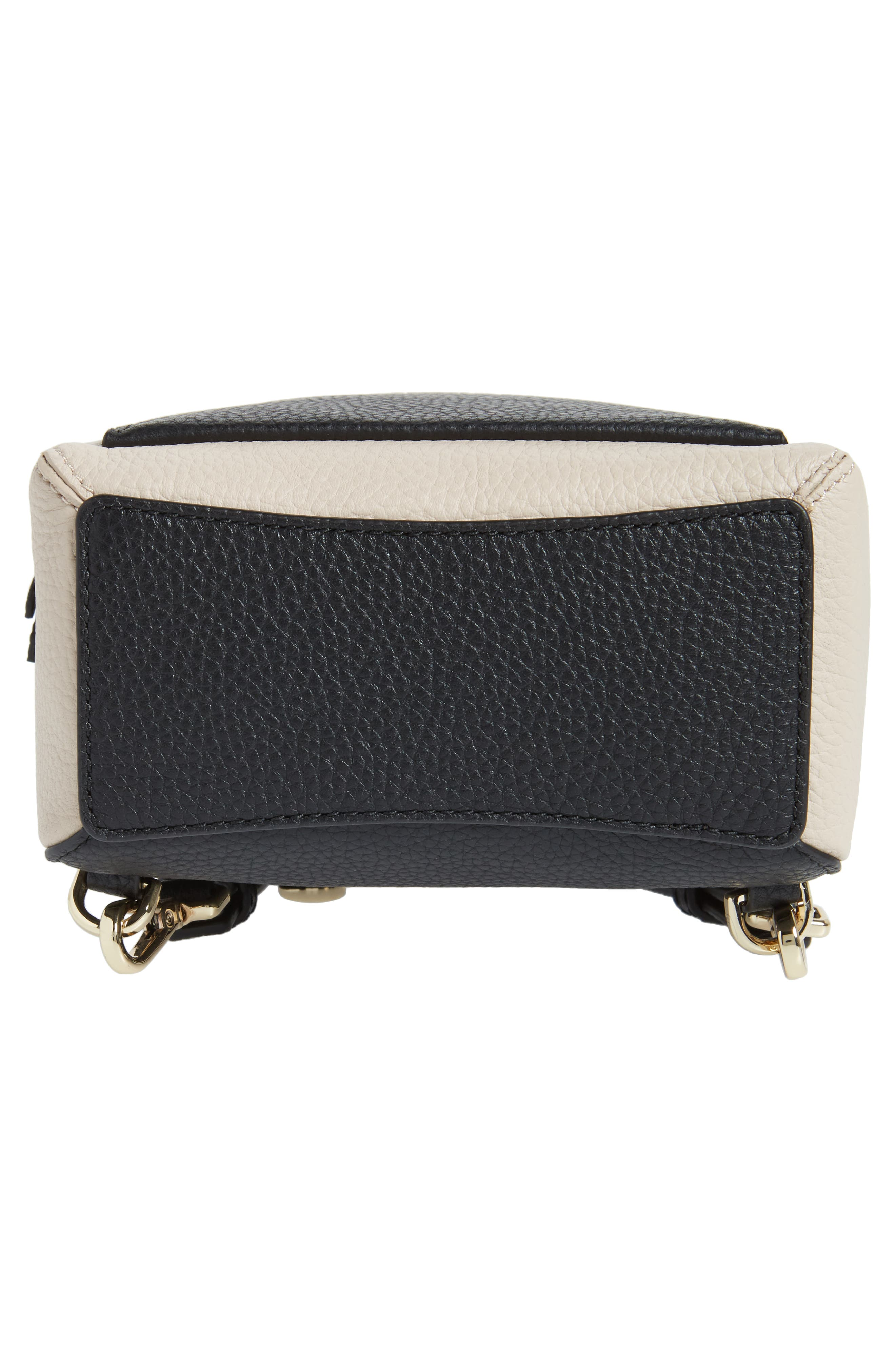 jackson street merry convertible leather backpack,                             Alternate thumbnail 6, color,                             Black/ Soft Porcelain