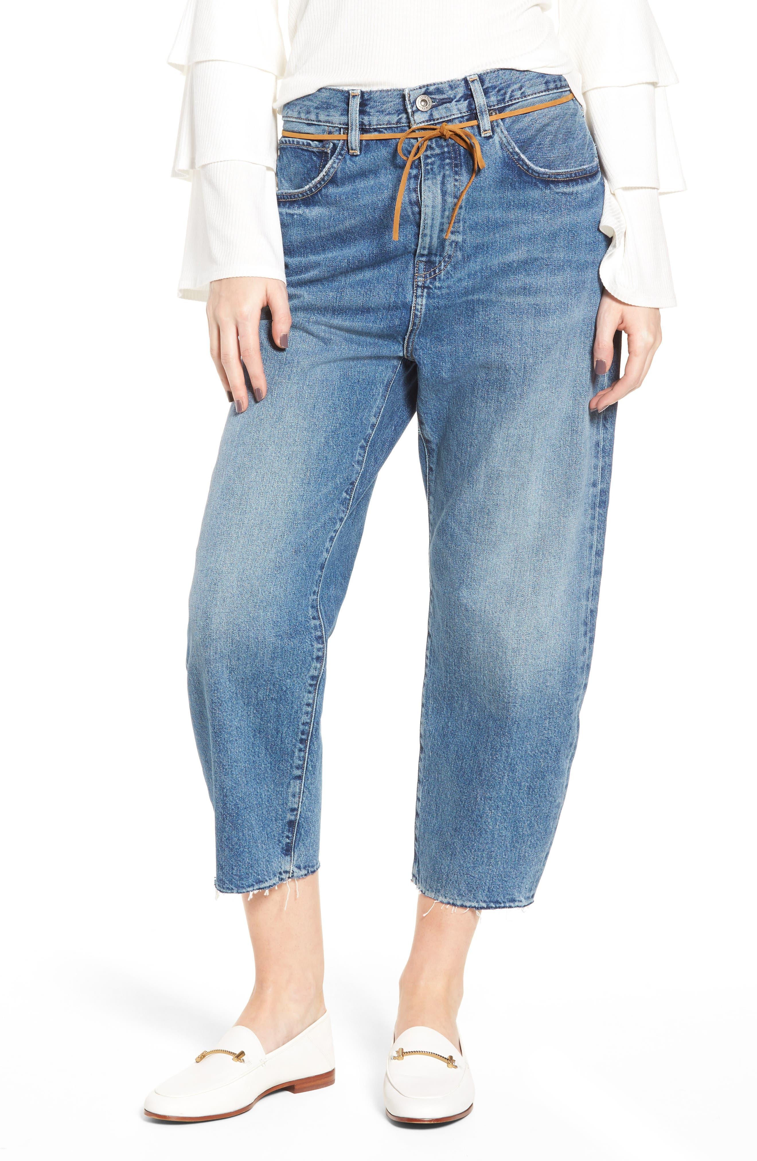 Barrel Jeans,                         Main,                         color, J-Bay