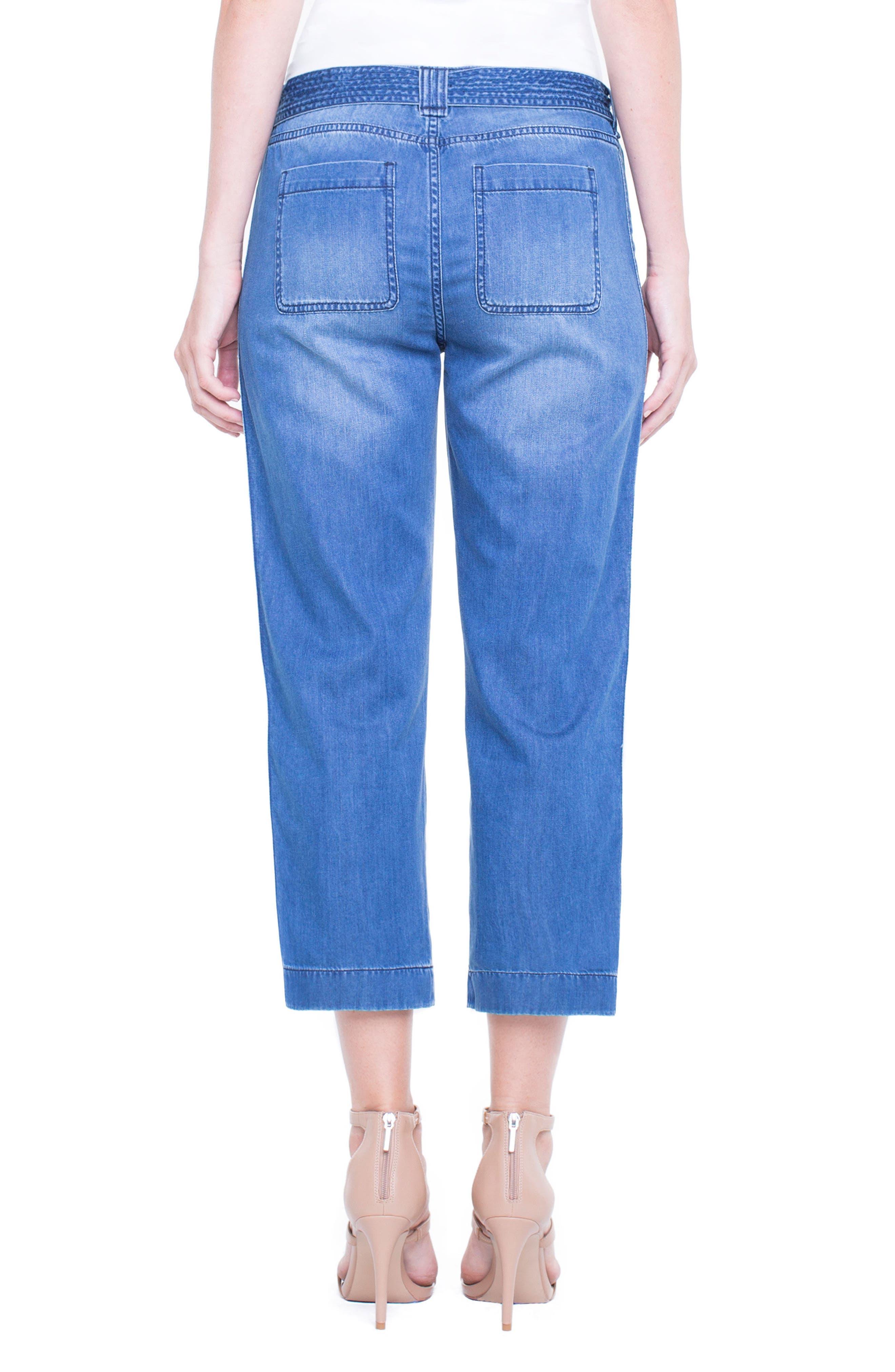 Norah Capri Jeans,                             Alternate thumbnail 3, color,                             Belfast Hand Sand